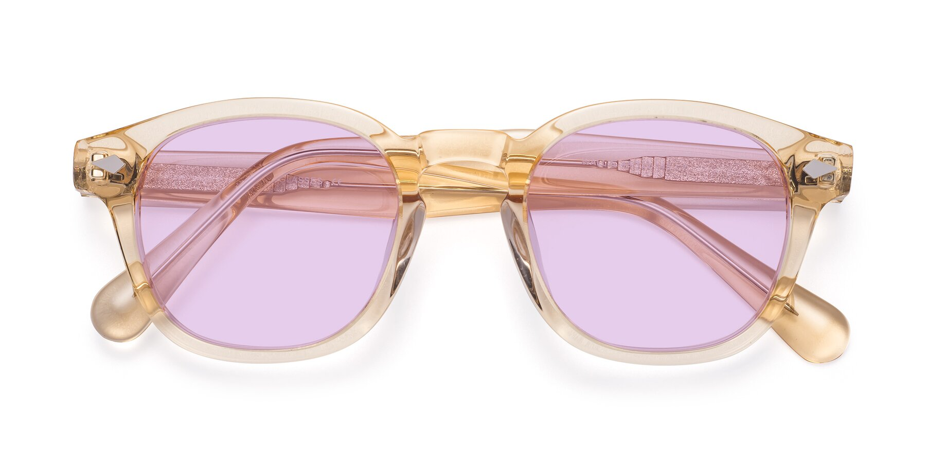 Folded Front of WALL-E in Translucent Brown with Light Purple Tinted Lenses