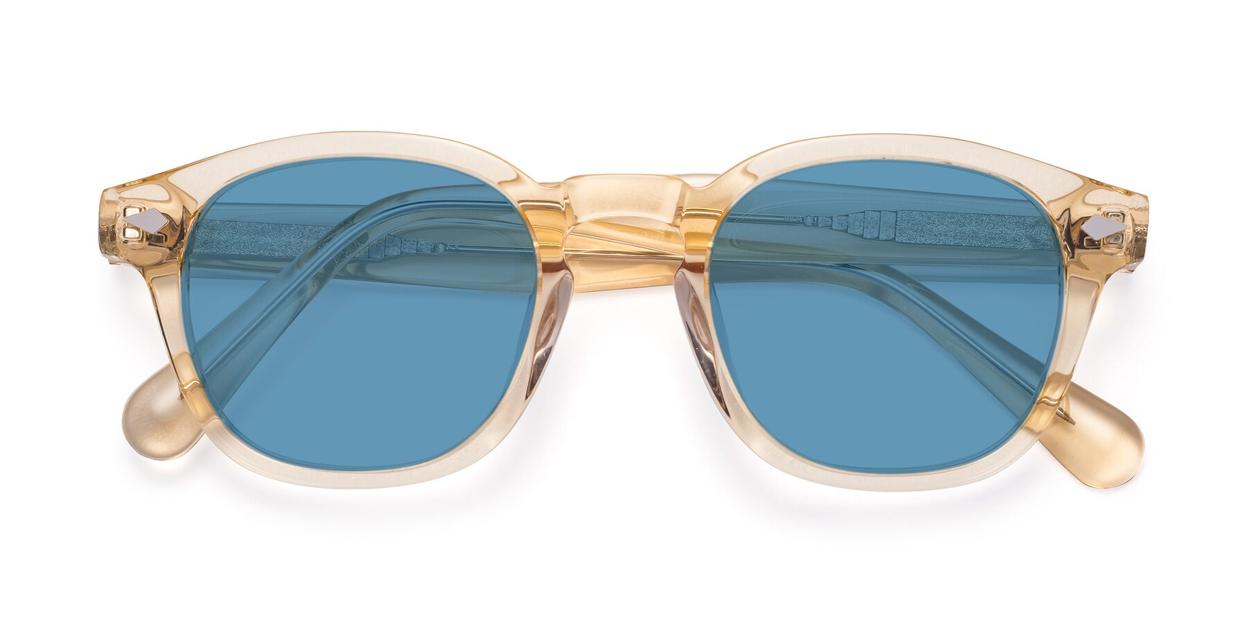 Folded Front of WALL-E in Translucent Brown with Medium Blue Tinted Lenses