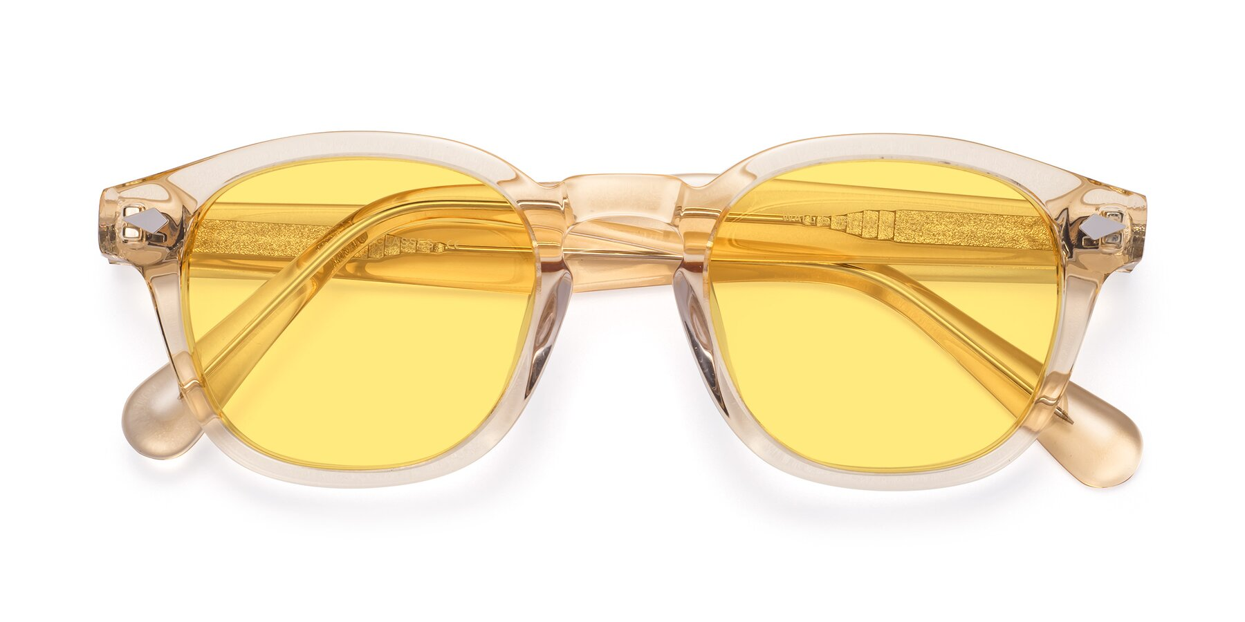 Folded Front of WALL-E in Translucent Brown with Medium Yellow Tinted Lenses
