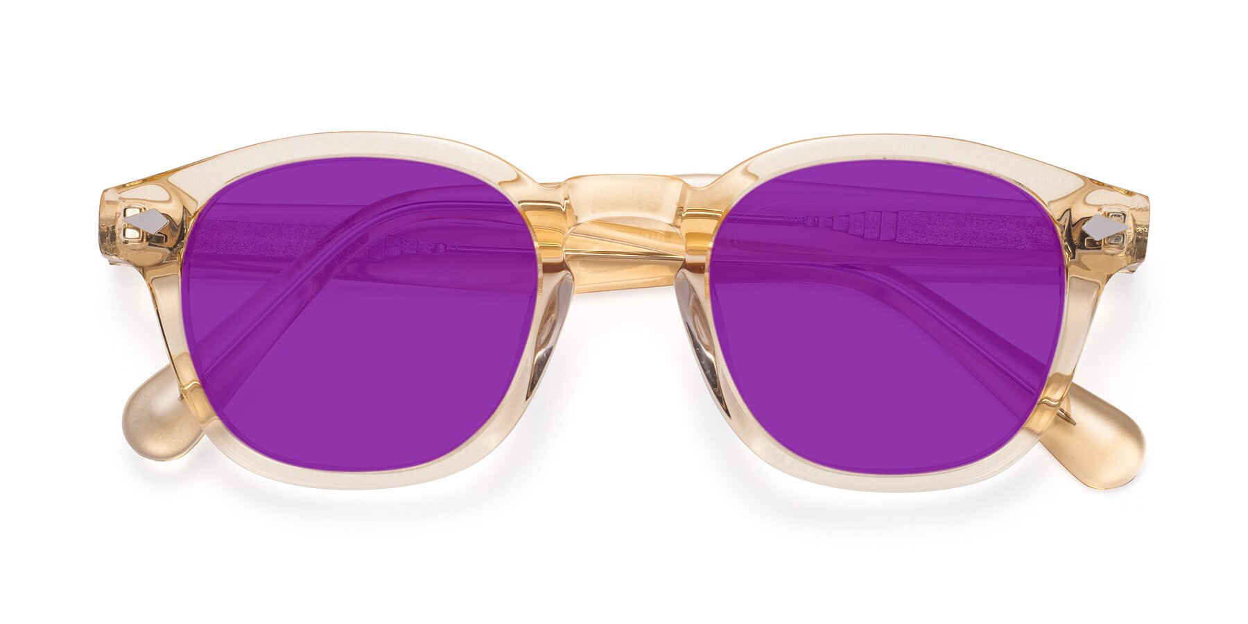Folded Front of WALL-E in Translucent Brown with Purple Tinted Lenses