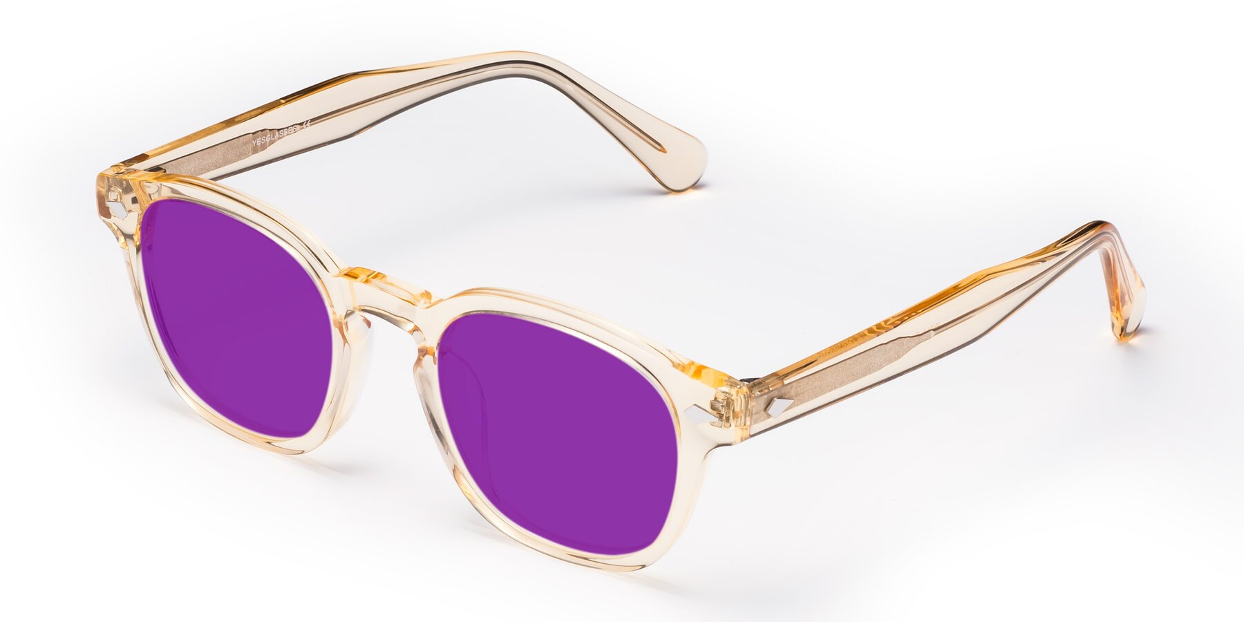 Angle of WALL-E in Translucent Brown with Purple Tinted Lenses