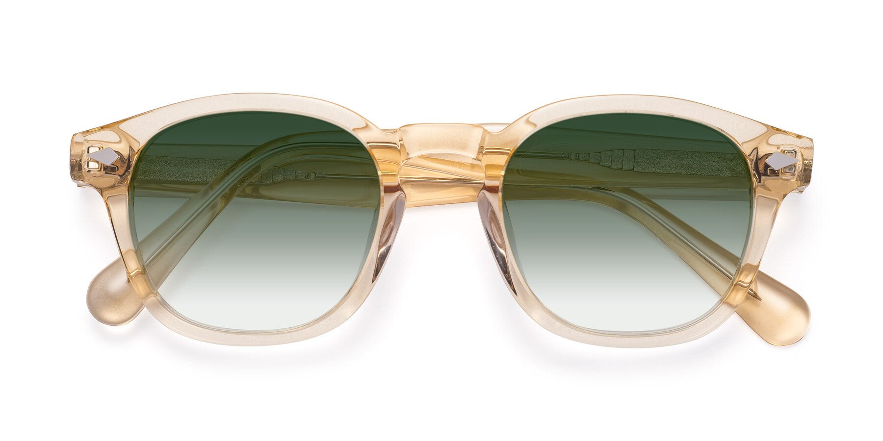 Folded Front of WALL-E in Translucent Brown with Green Gradient Lenses