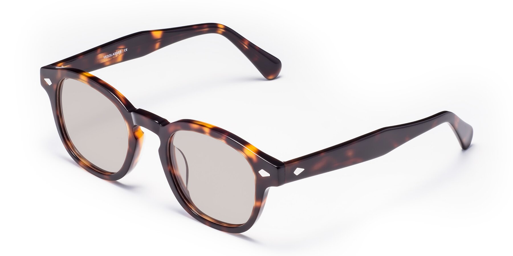 Angle of WALL-E in Tortoise with Light Brown Tinted Lenses