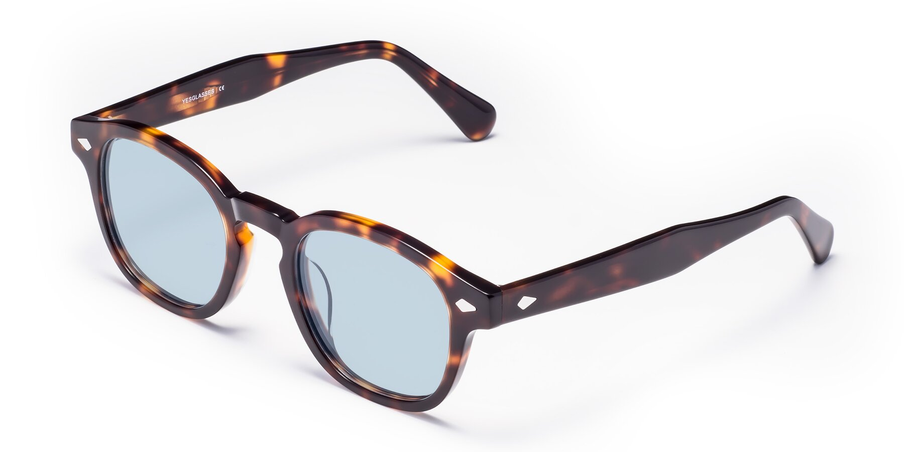 Angle of WALL-E in Tortoise with Light Blue Tinted Lenses