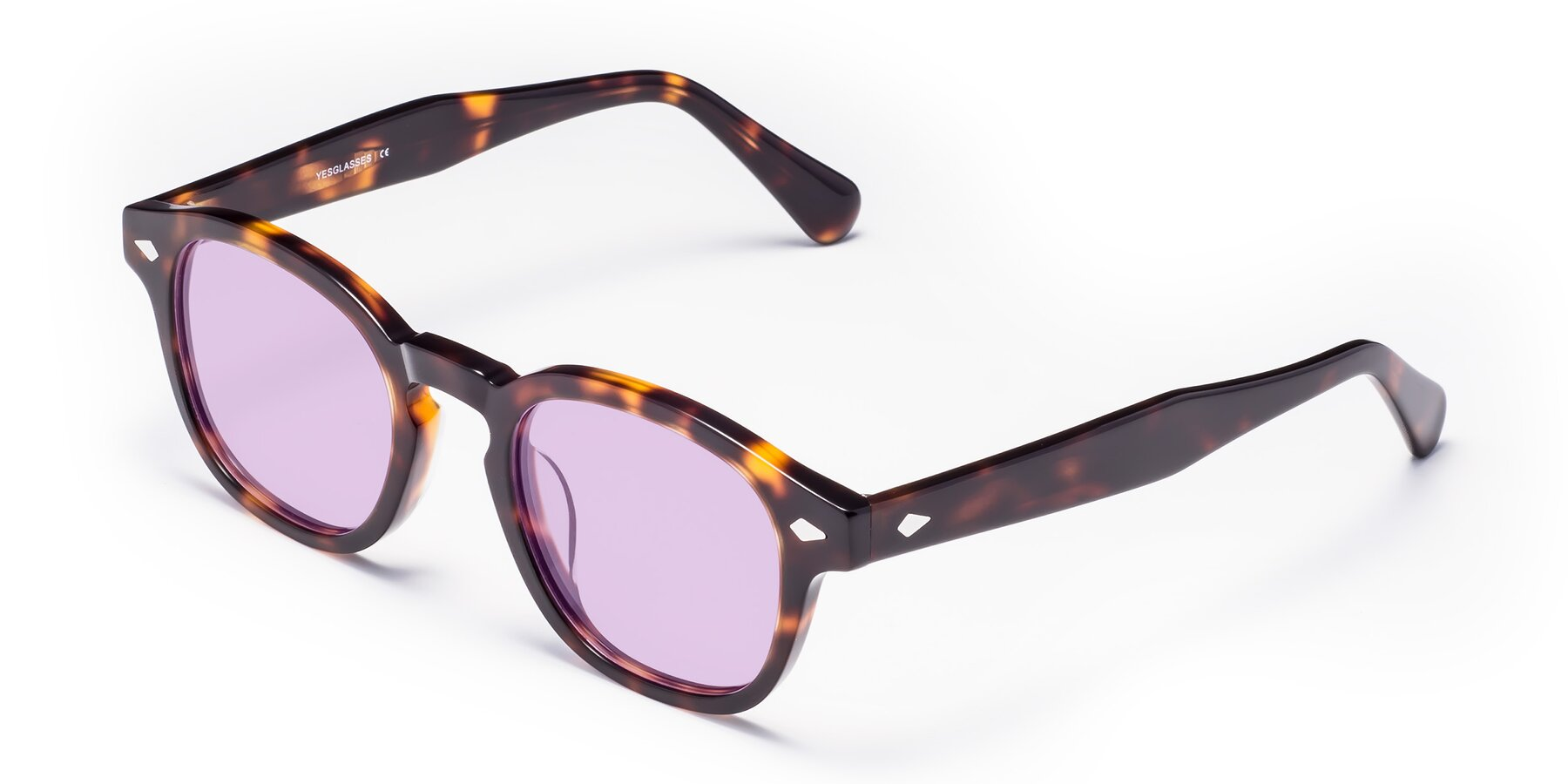 Angle of WALL-E in Tortoise with Light Purple Tinted Lenses