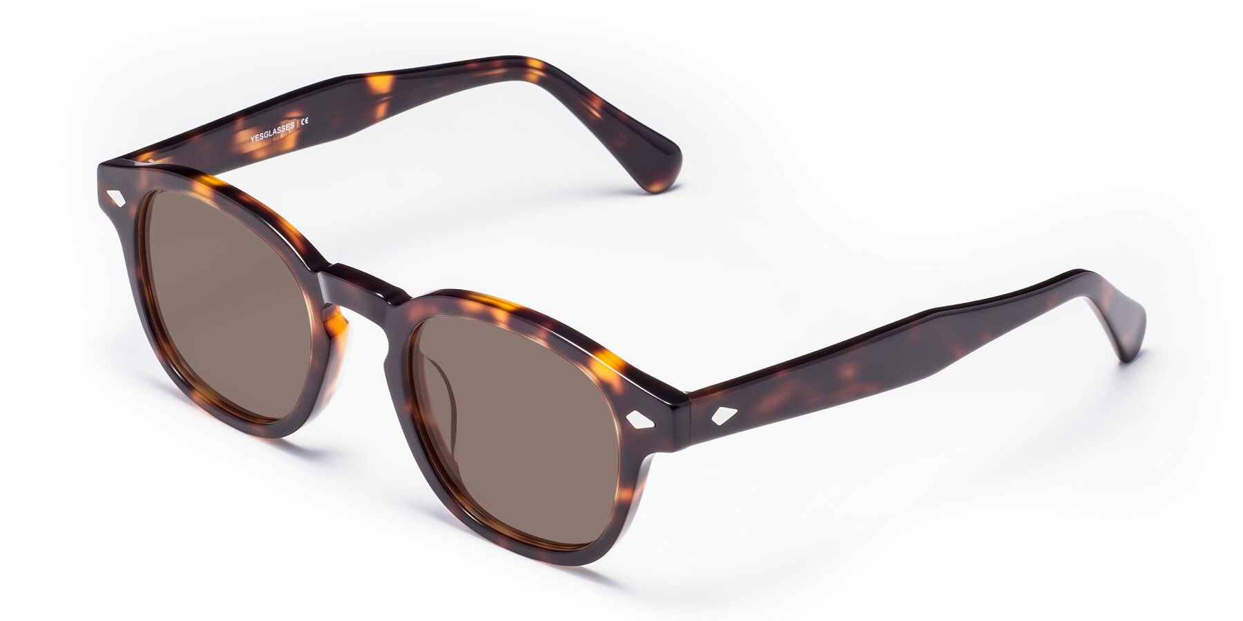 Angle of WALL-E in Tortoise with Medium Brown Tinted Lenses