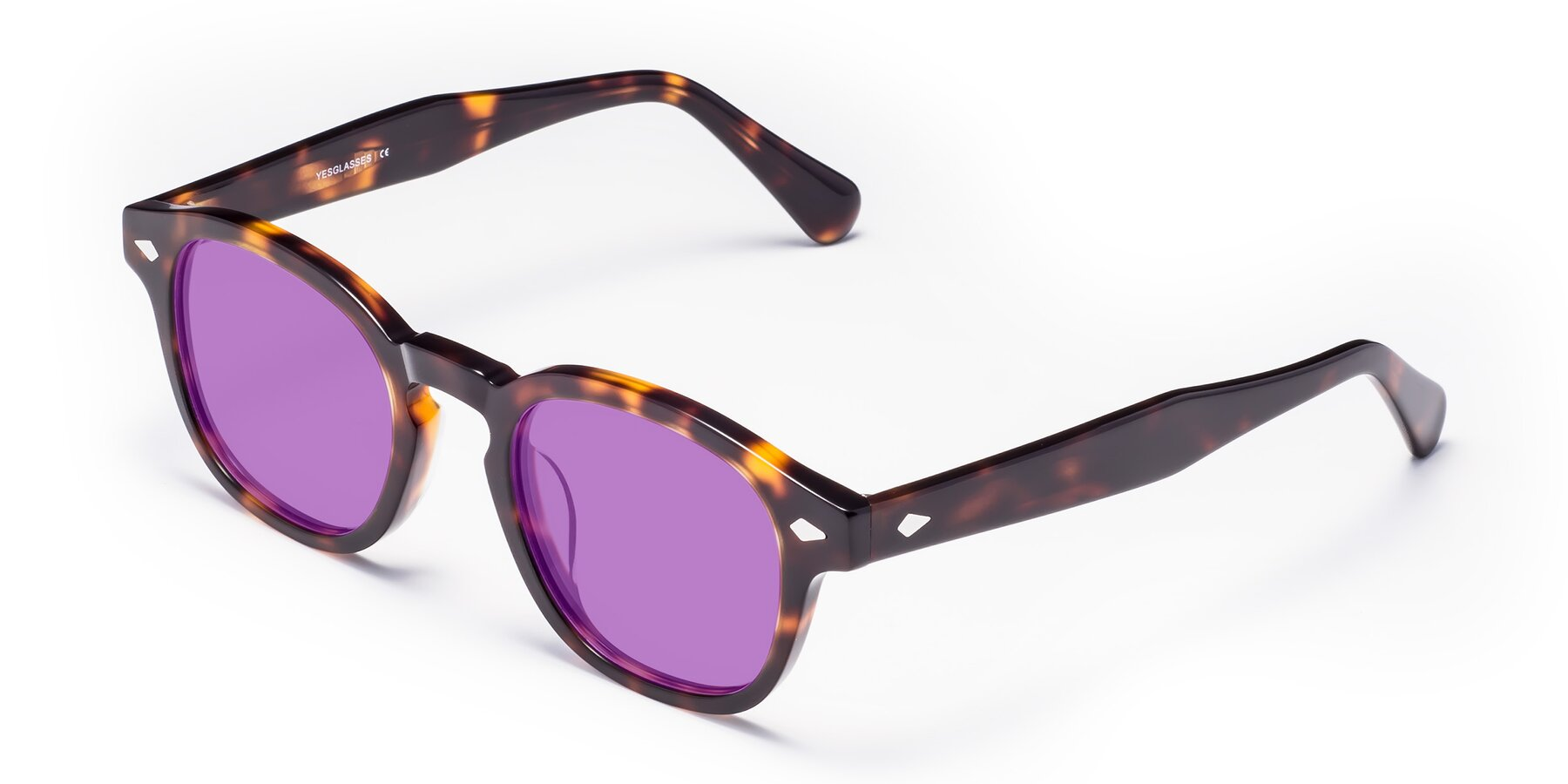 Angle of WALL-E in Tortoise with Medium Purple Tinted Lenses