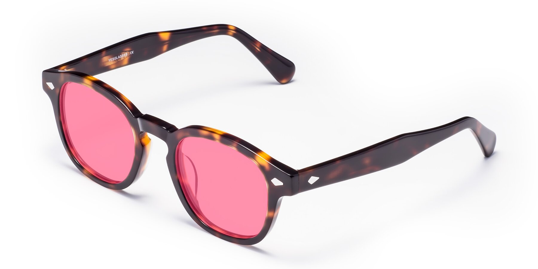 Angle of WALL-E in Tortoise with Pink Tinted Lenses