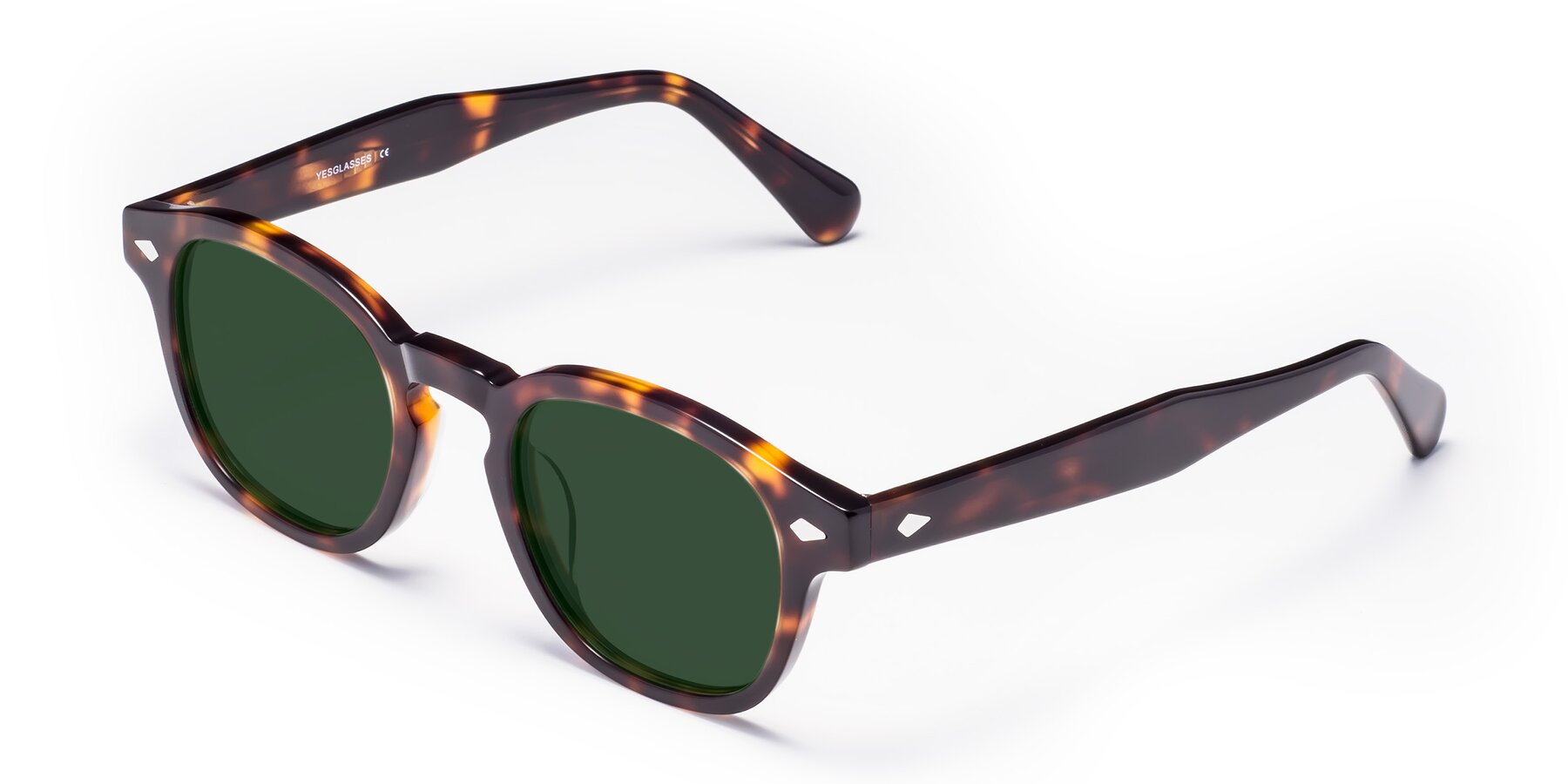 Angle of WALL-E in Tortoise with Green Tinted Lenses