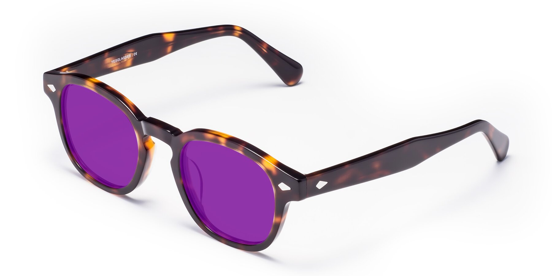Angle of WALL-E in Tortoise with Purple Tinted Lenses