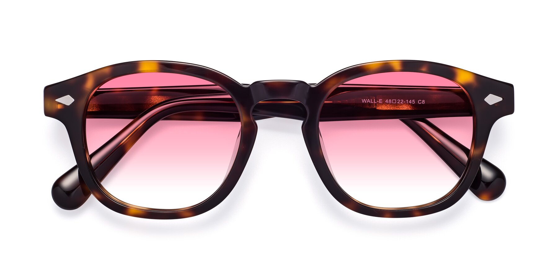 Folded Front of WALL-E in Tortoise with Pink Gradient Lenses