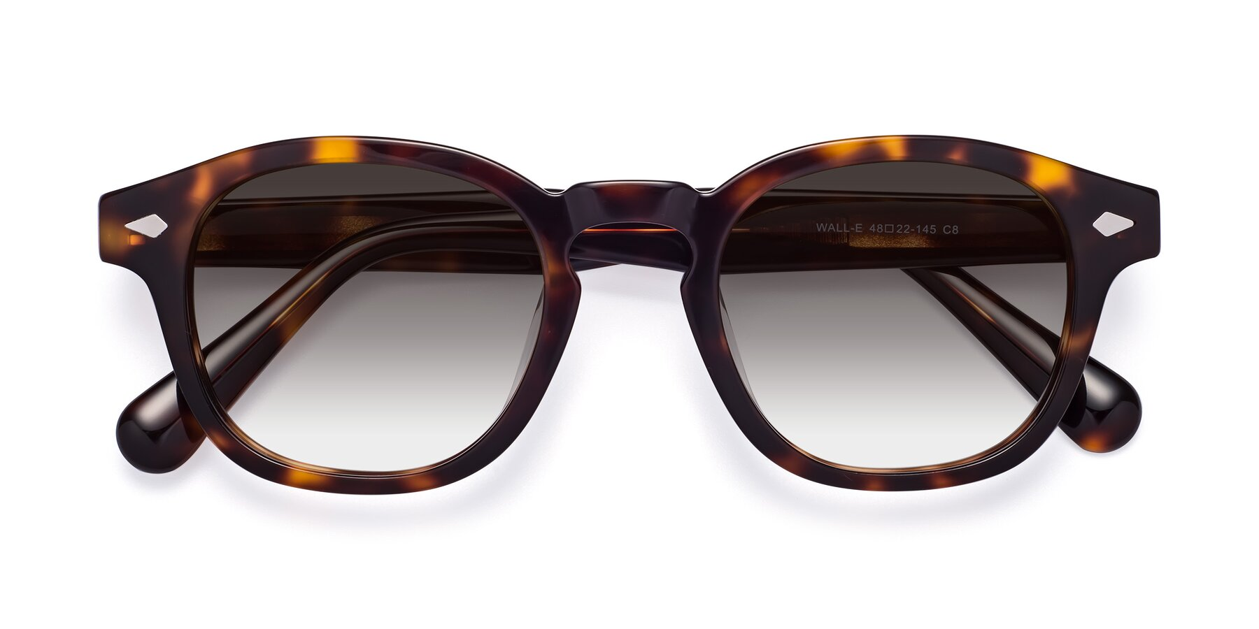 Folded Front of WALL-E in Tortoise with Gray Gradient Lenses