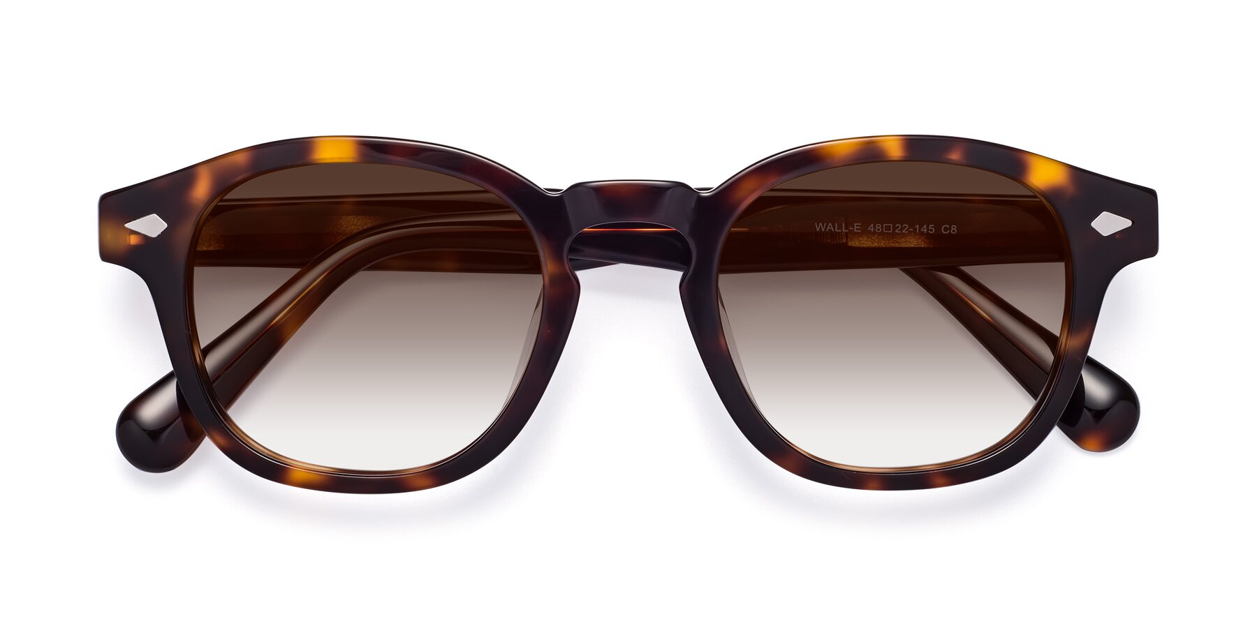 Folded Front of WALL-E in Tortoise with Brown Gradient Lenses