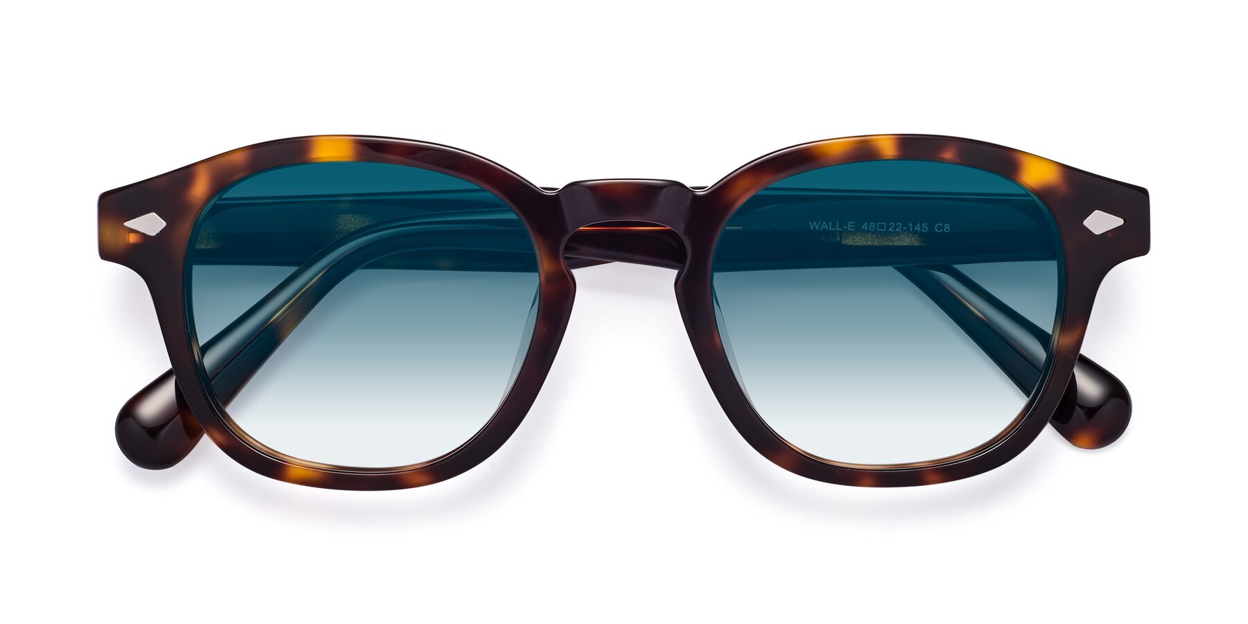 Folded Front of WALL-E in Tortoise with Blue Gradient Lenses