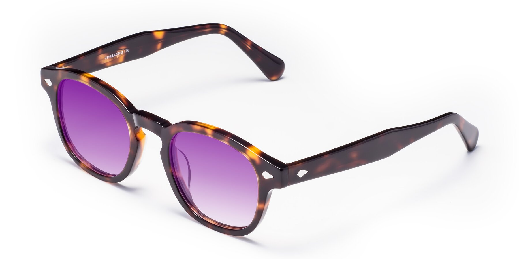 Angle of WALL-E in Tortoise with Purple Gradient Lenses