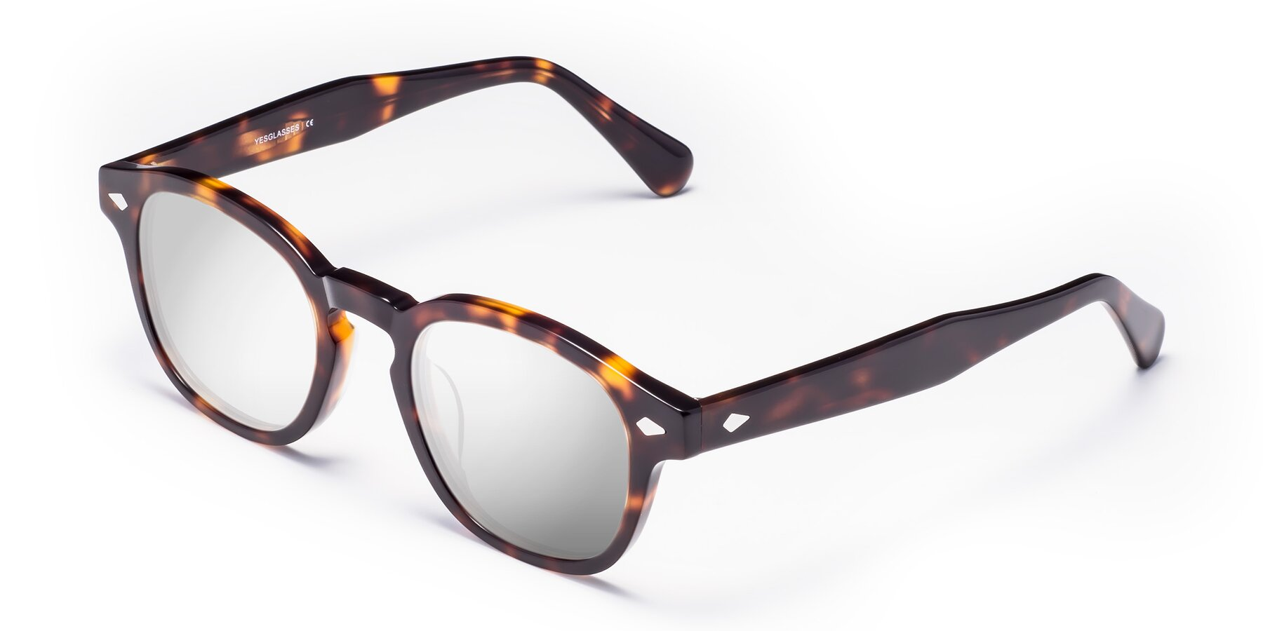 Angle of WALL-E in Tortoise with Silver Mirrored Lenses