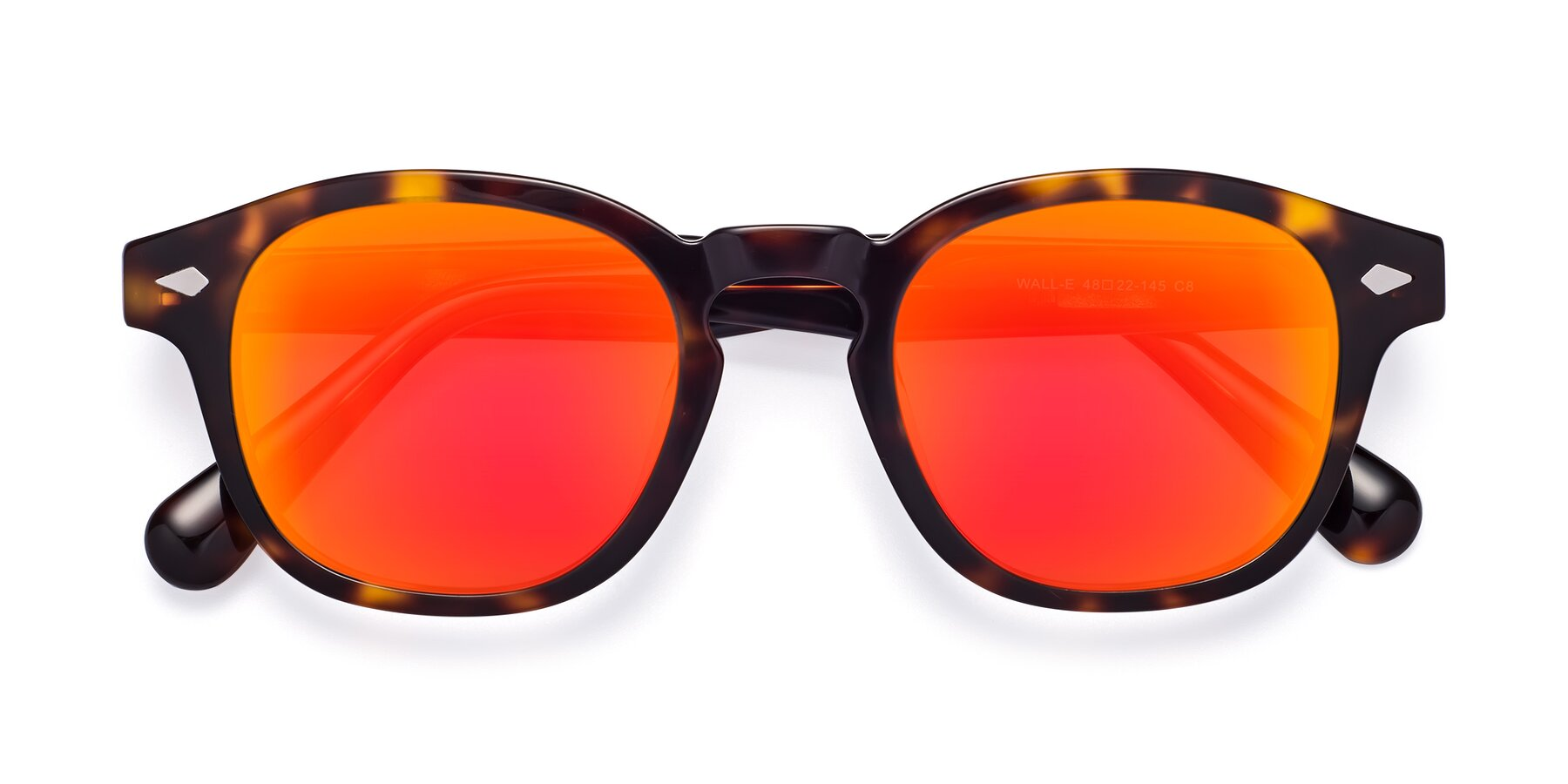 Folded Front of WALL-E in Tortoise with Red Gold Mirrored Lenses