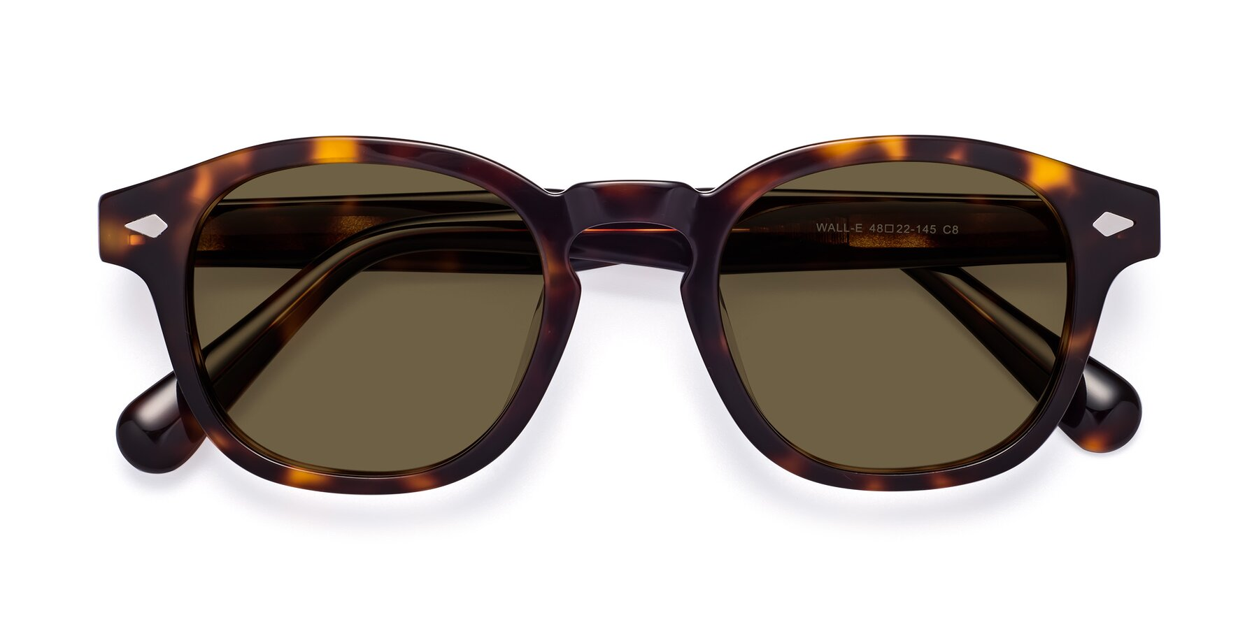 Folded Front of WALL-E in Tortoise with Brown Polarized Lenses