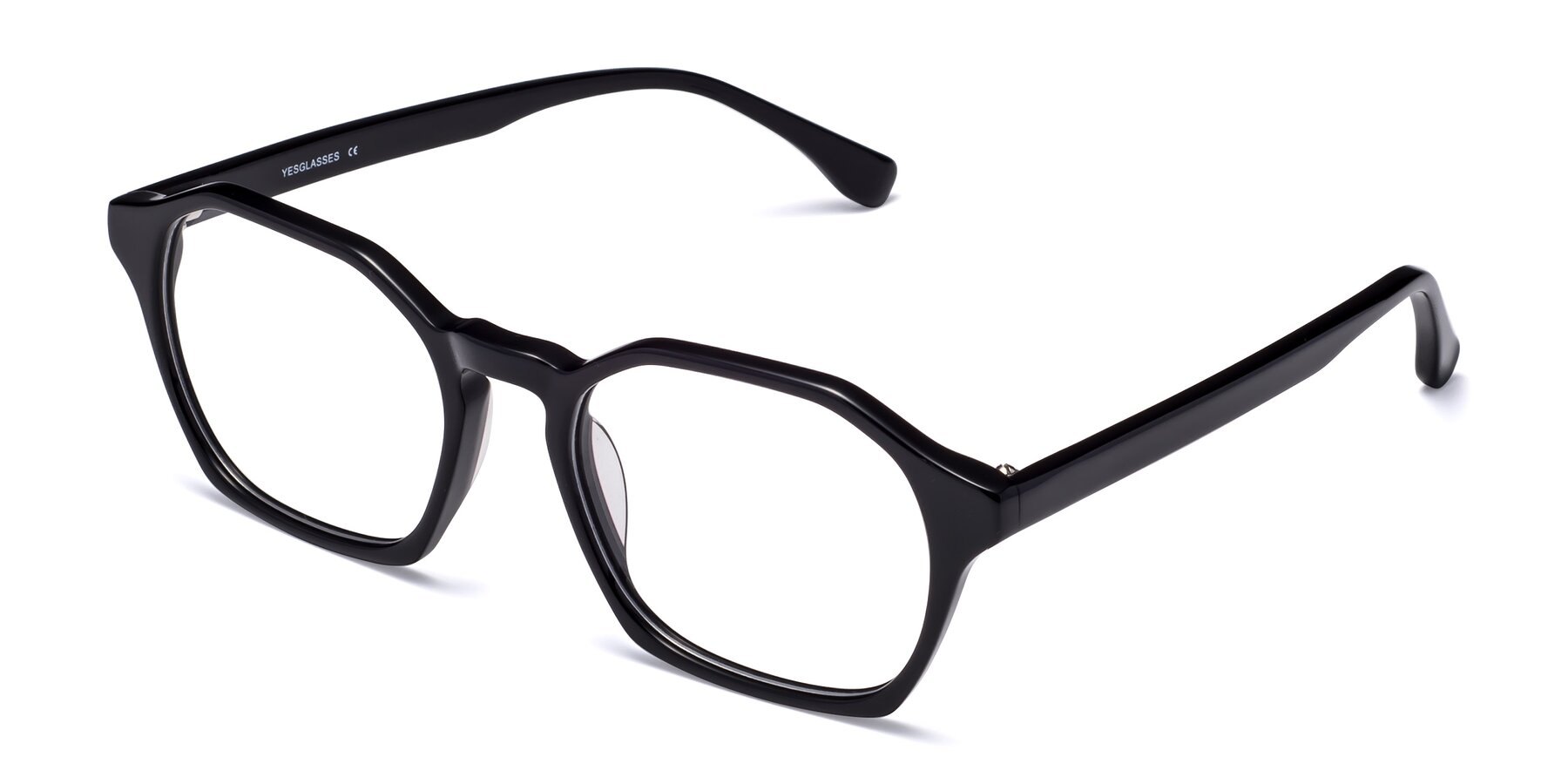 Angle of Stoltz in Black with Clear Eyeglass Lenses