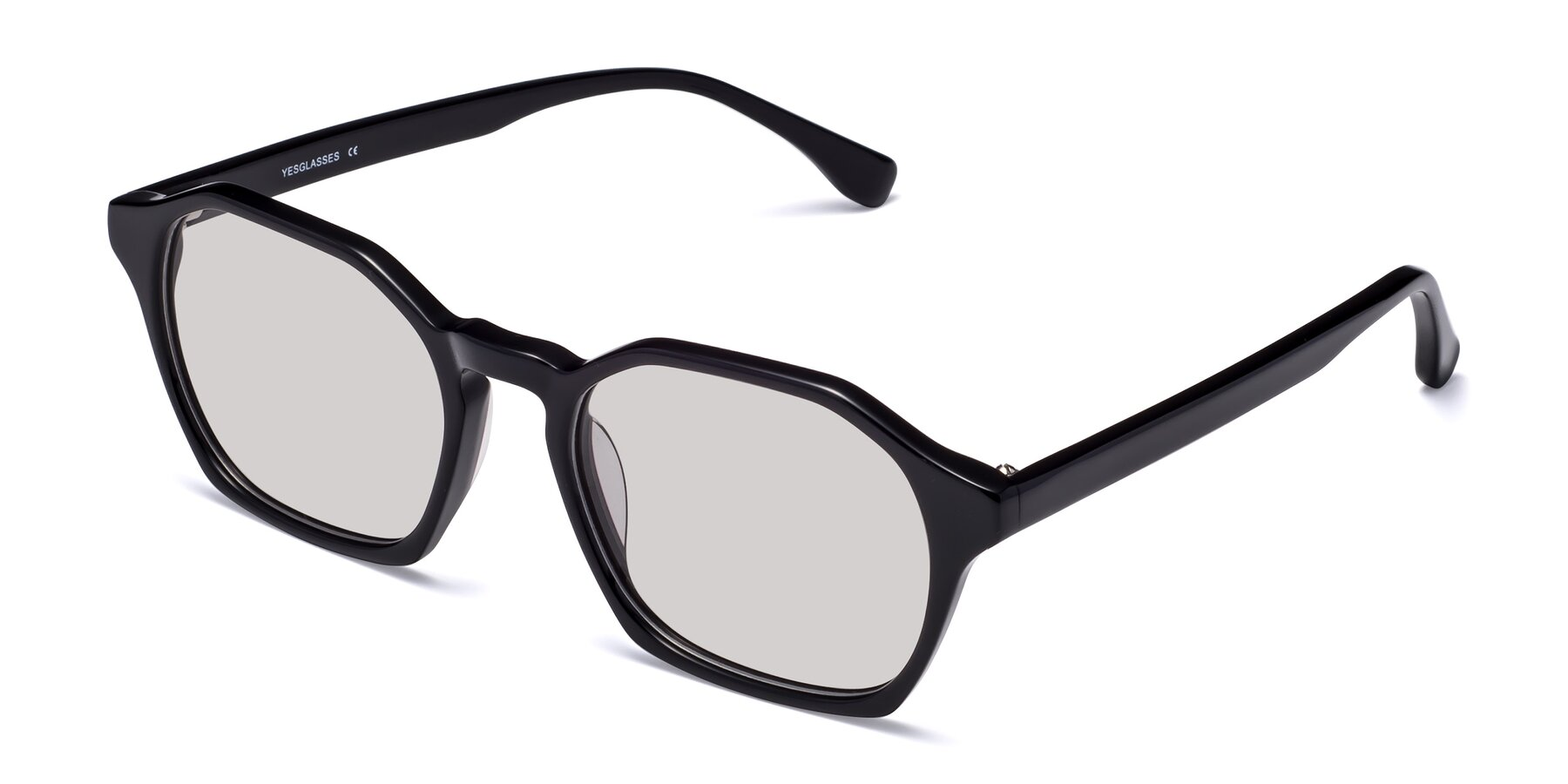 Angle of Stoltz in Black with Light Gray Tinted Lenses