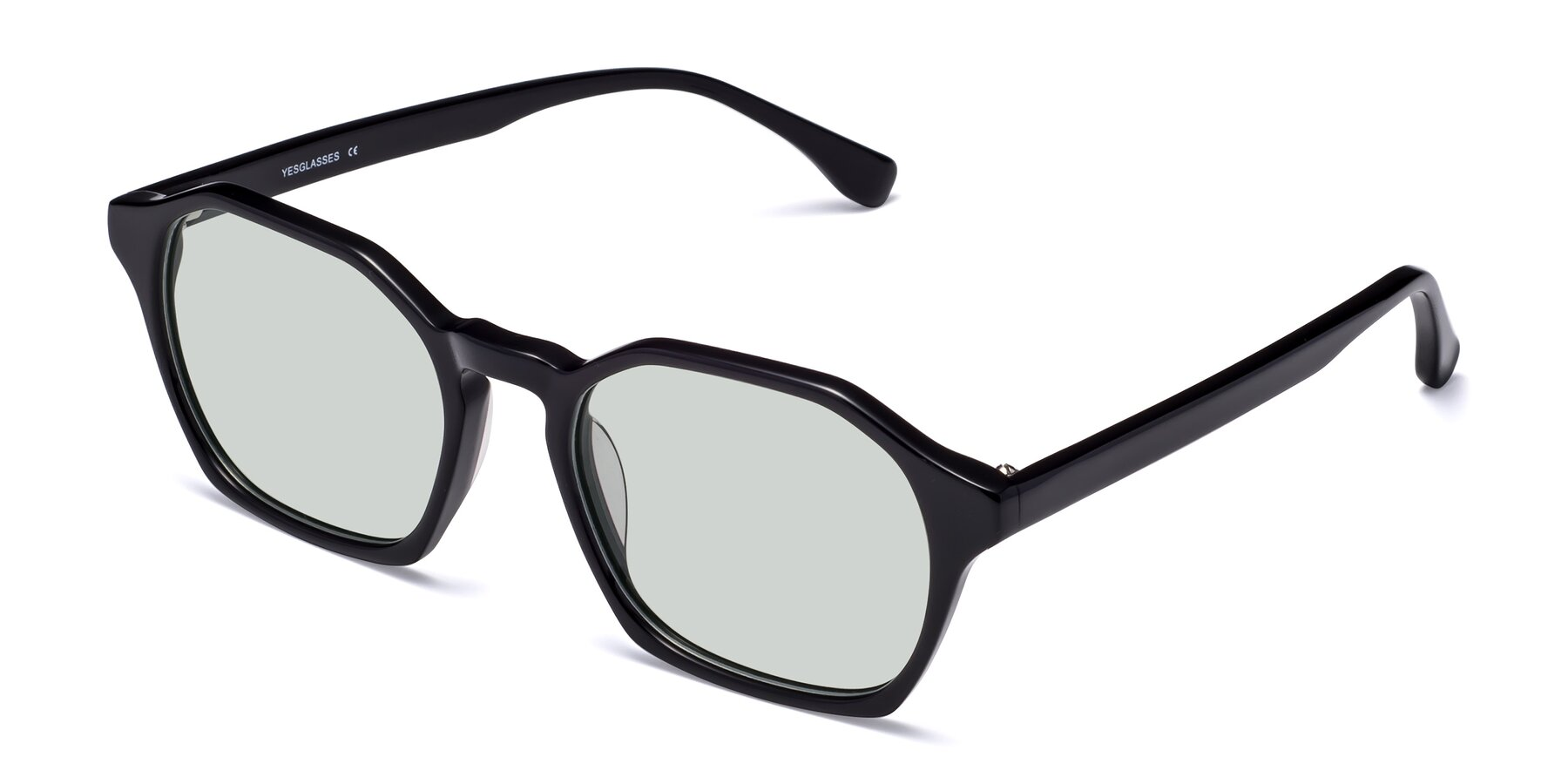 Angle of Stoltz in Black with Light Green Tinted Lenses