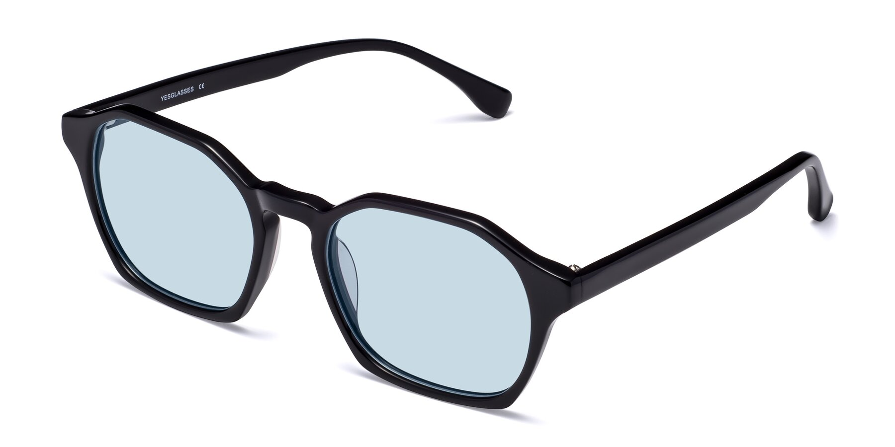 Angle of Stoltz in Black with Light Blue Tinted Lenses