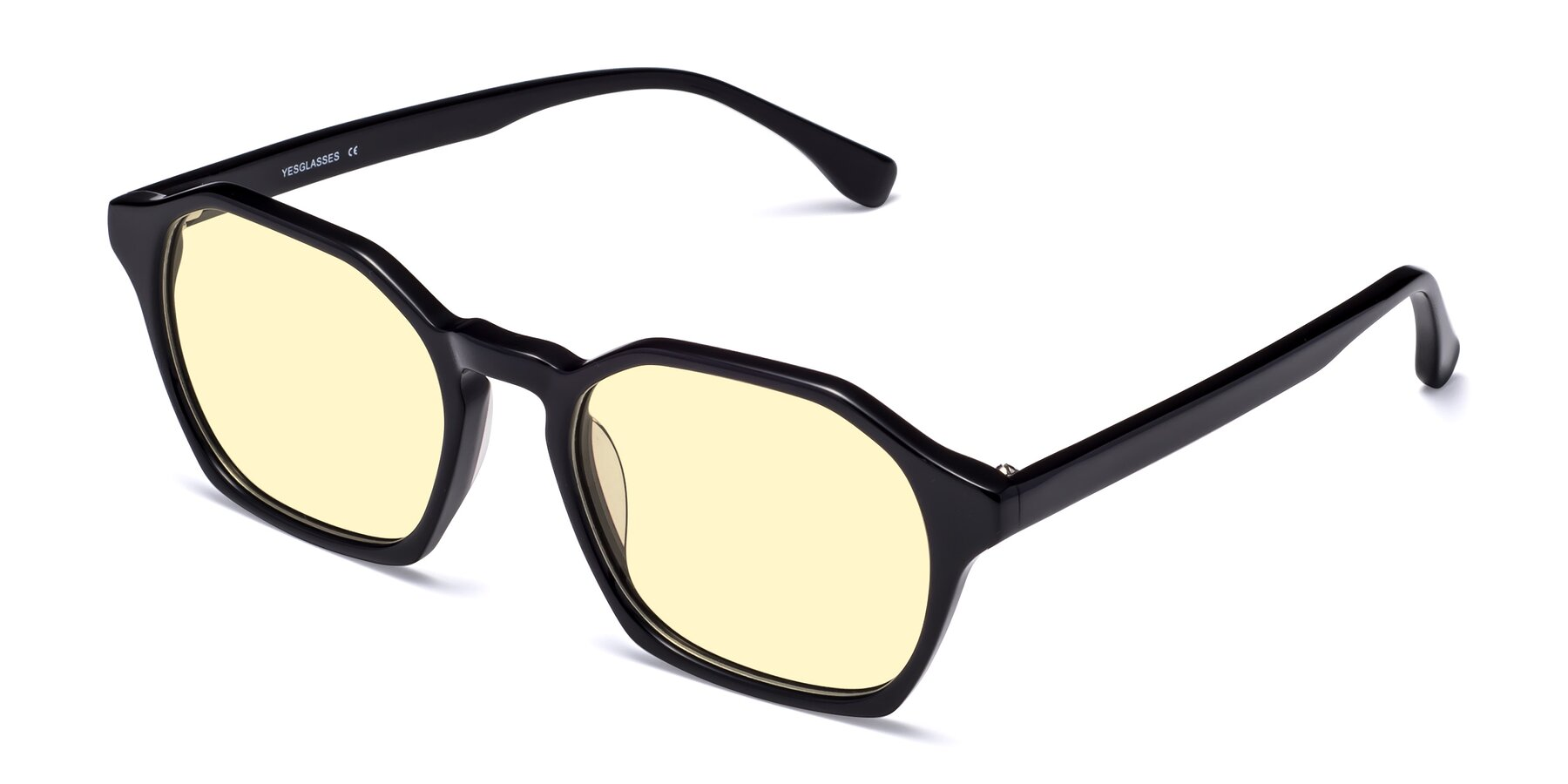 Angle of Stoltz in Black with Light Yellow Tinted Lenses