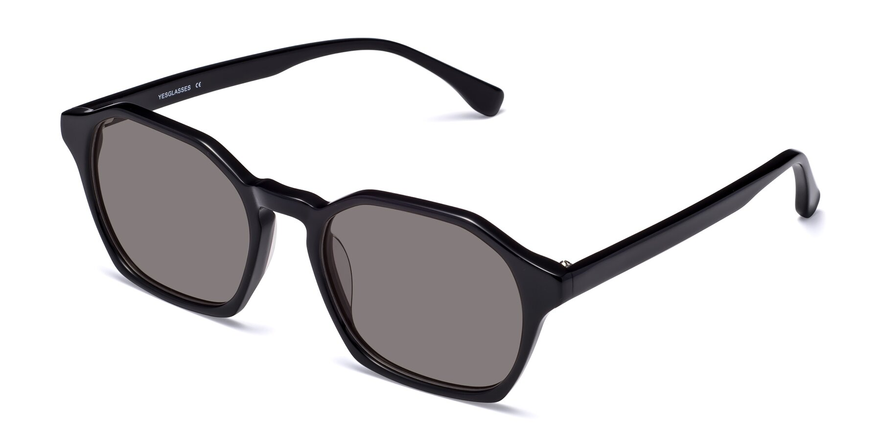 Angle of Stoltz in Black with Medium Gray Tinted Lenses