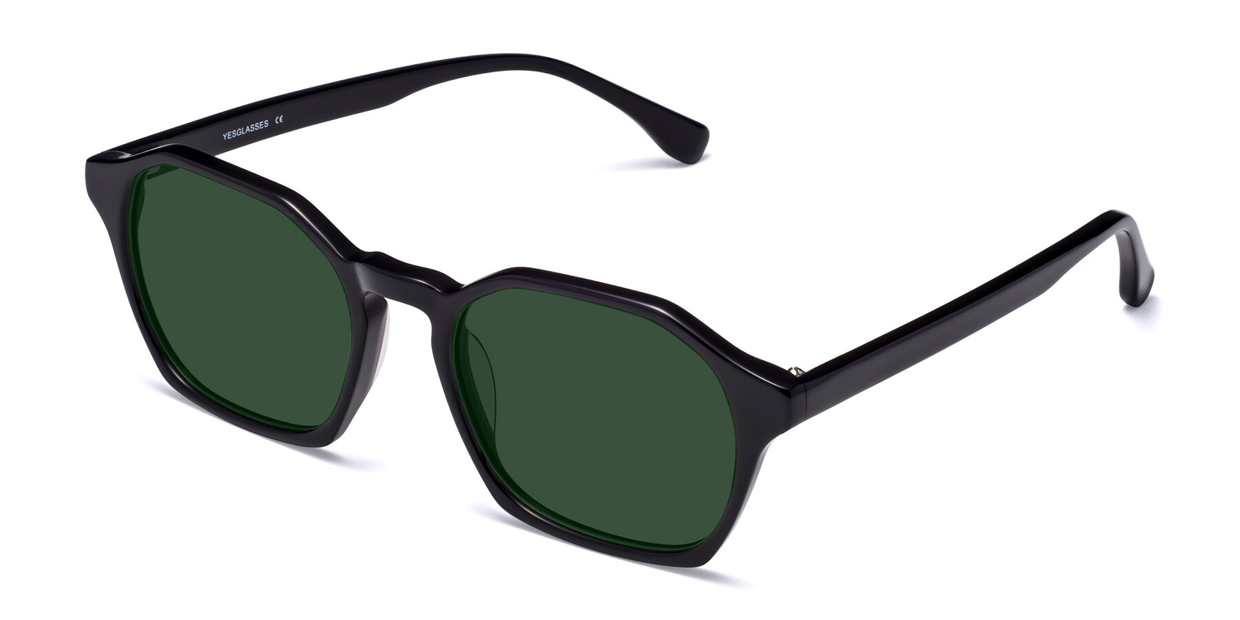 Angle of Stoltz in Black with Green Tinted Lenses