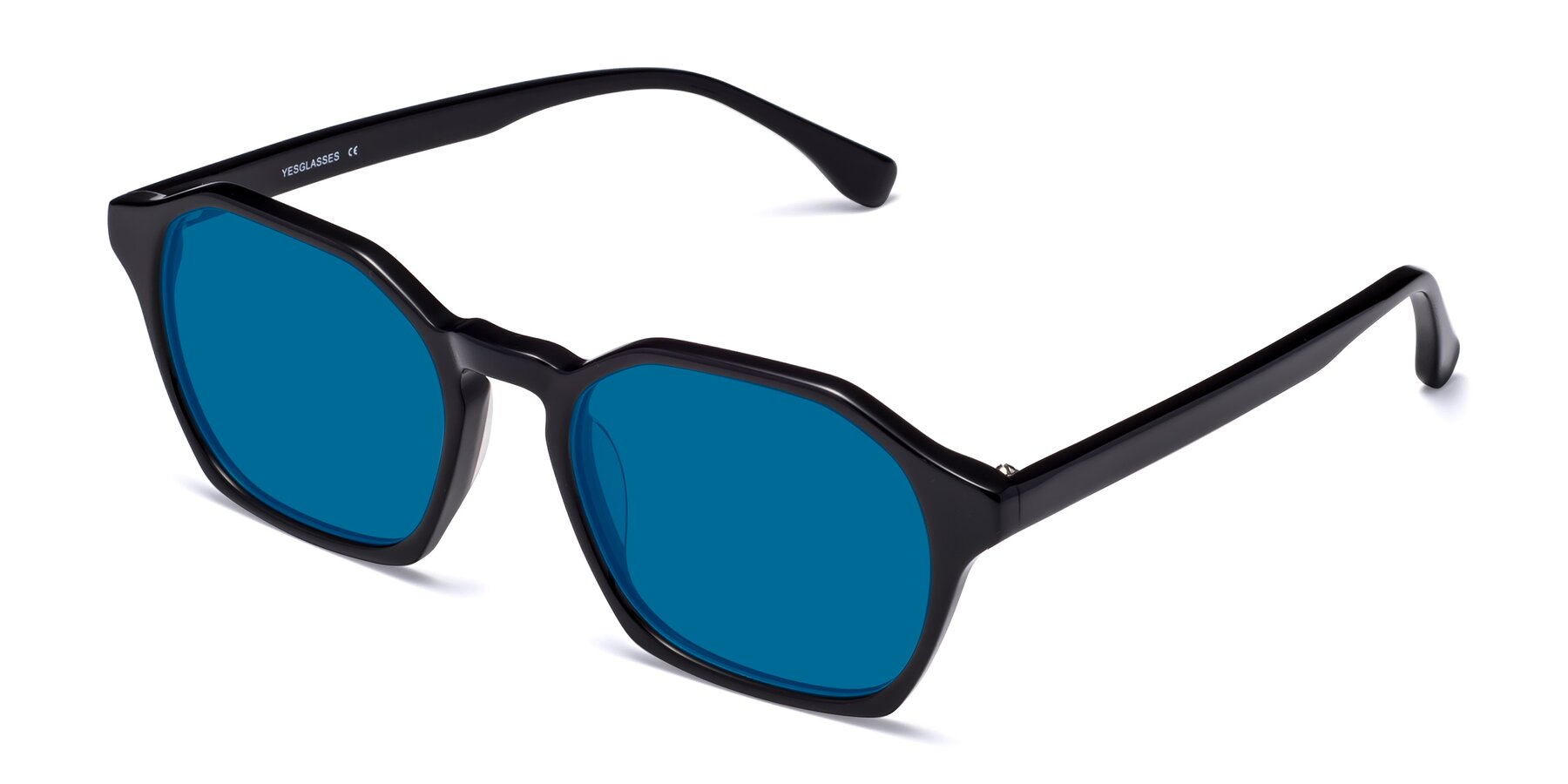 Angle of Stoltz in Black with Blue Tinted Lenses