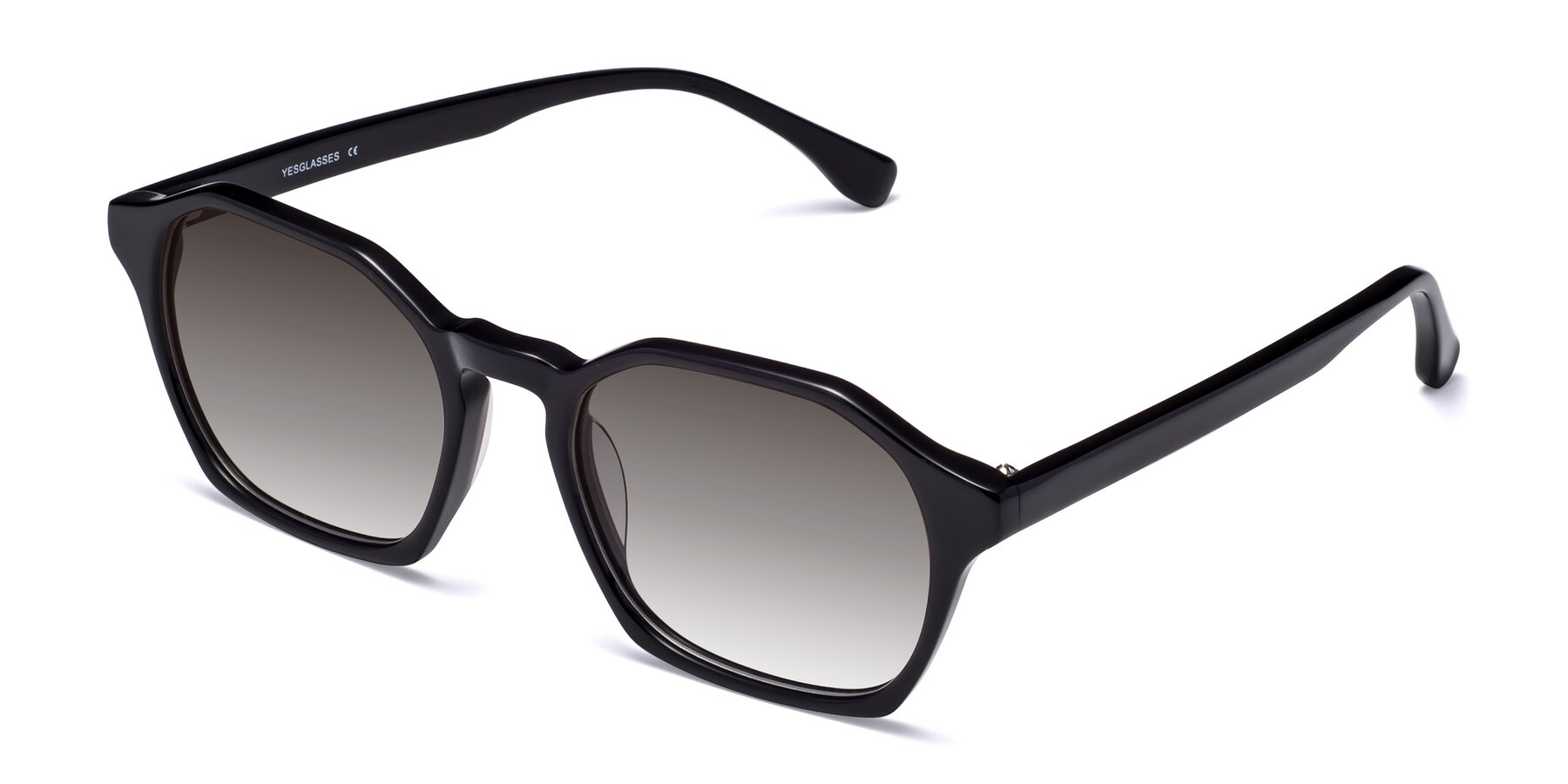 Angle of Stoltz in Black with Gray Gradient Lenses