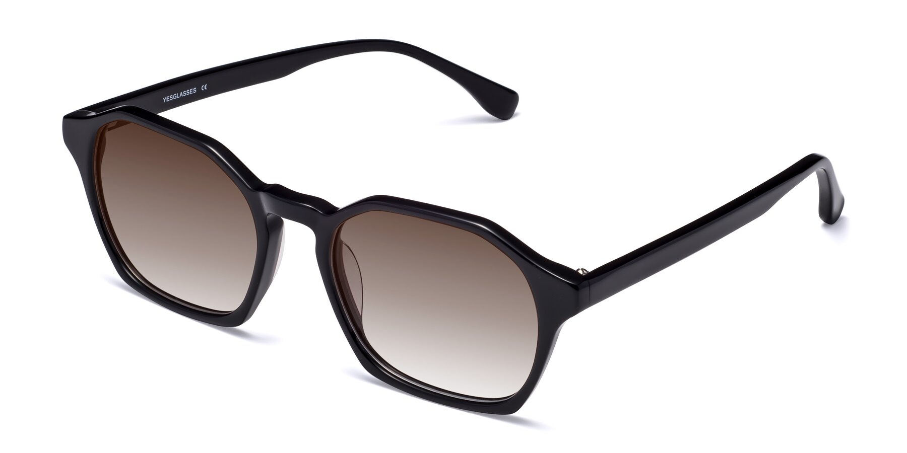 Angle of Stoltz in Black with Brown Gradient Lenses