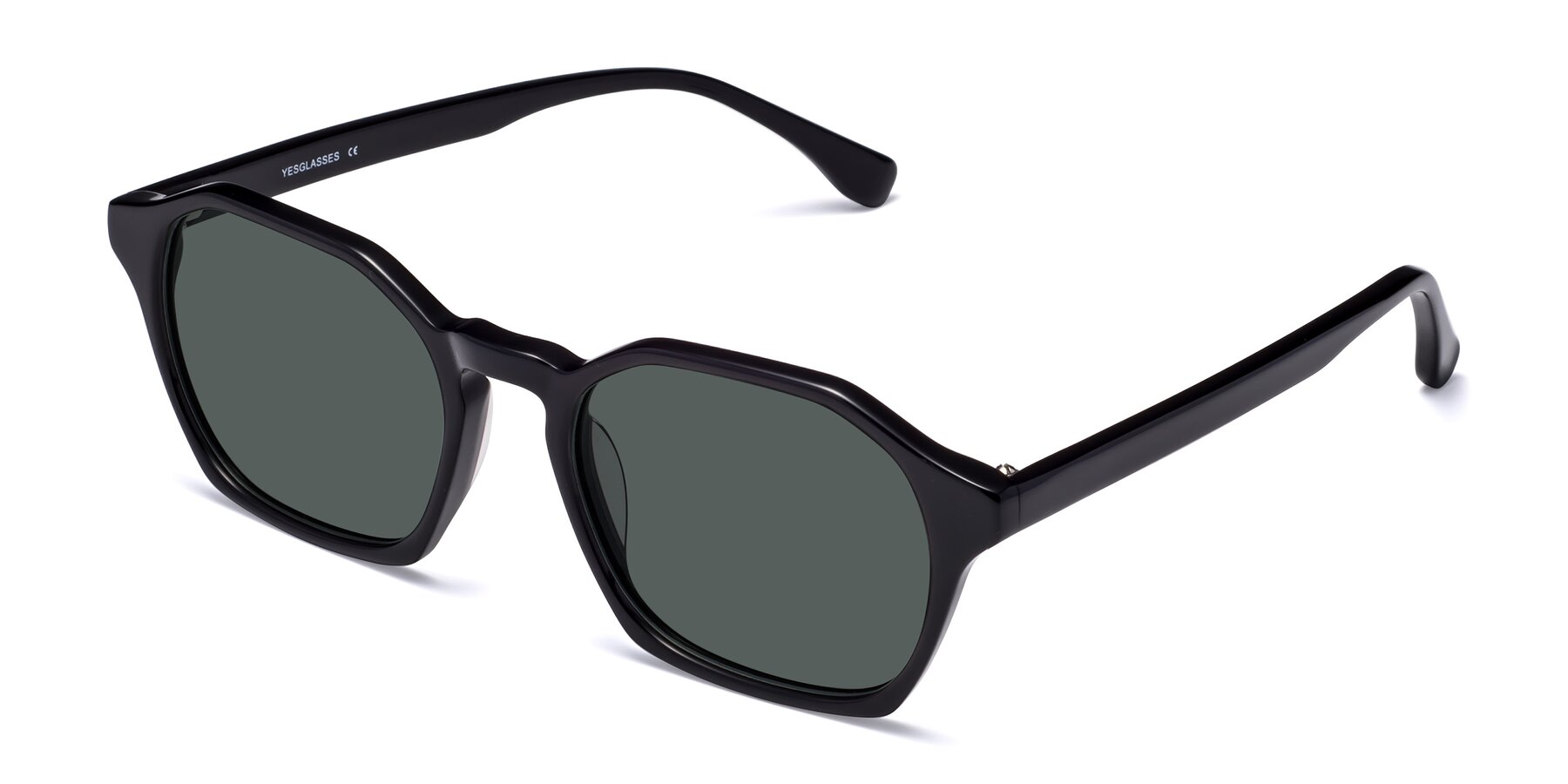 Angle of Stoltz in Black with Gray Polarized Lenses
