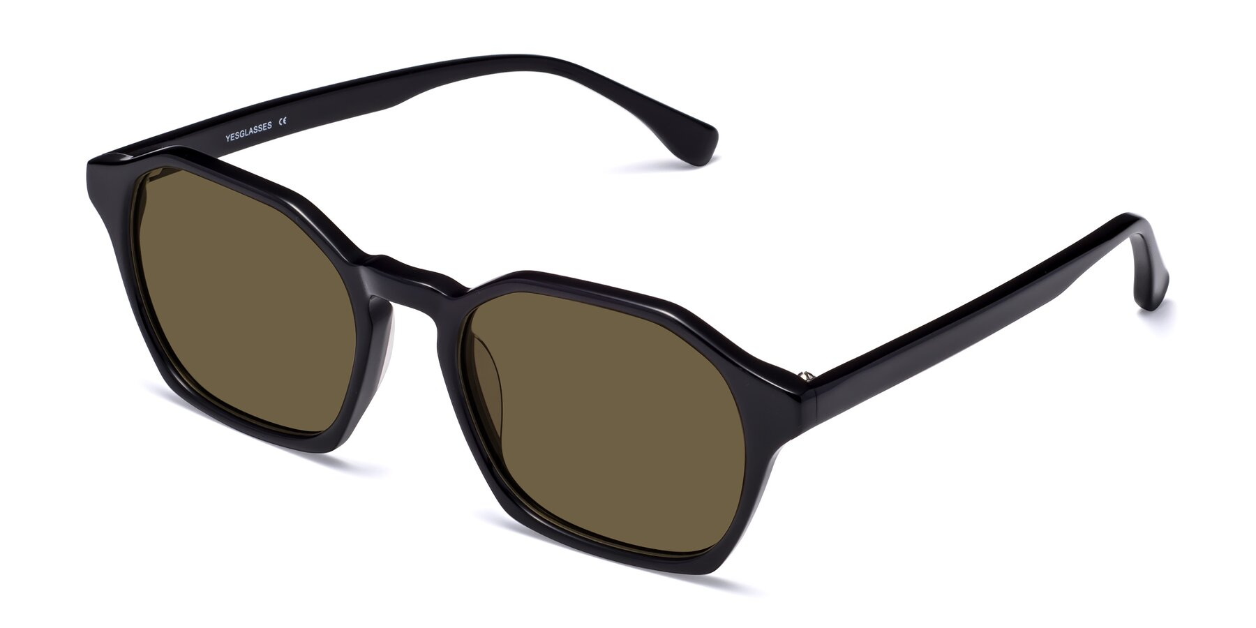 Angle of Stoltz in Black with Brown Polarized Lenses
