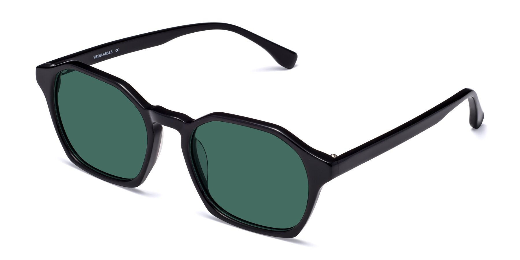 Angle of Stoltz in Black with Green Polarized Lenses