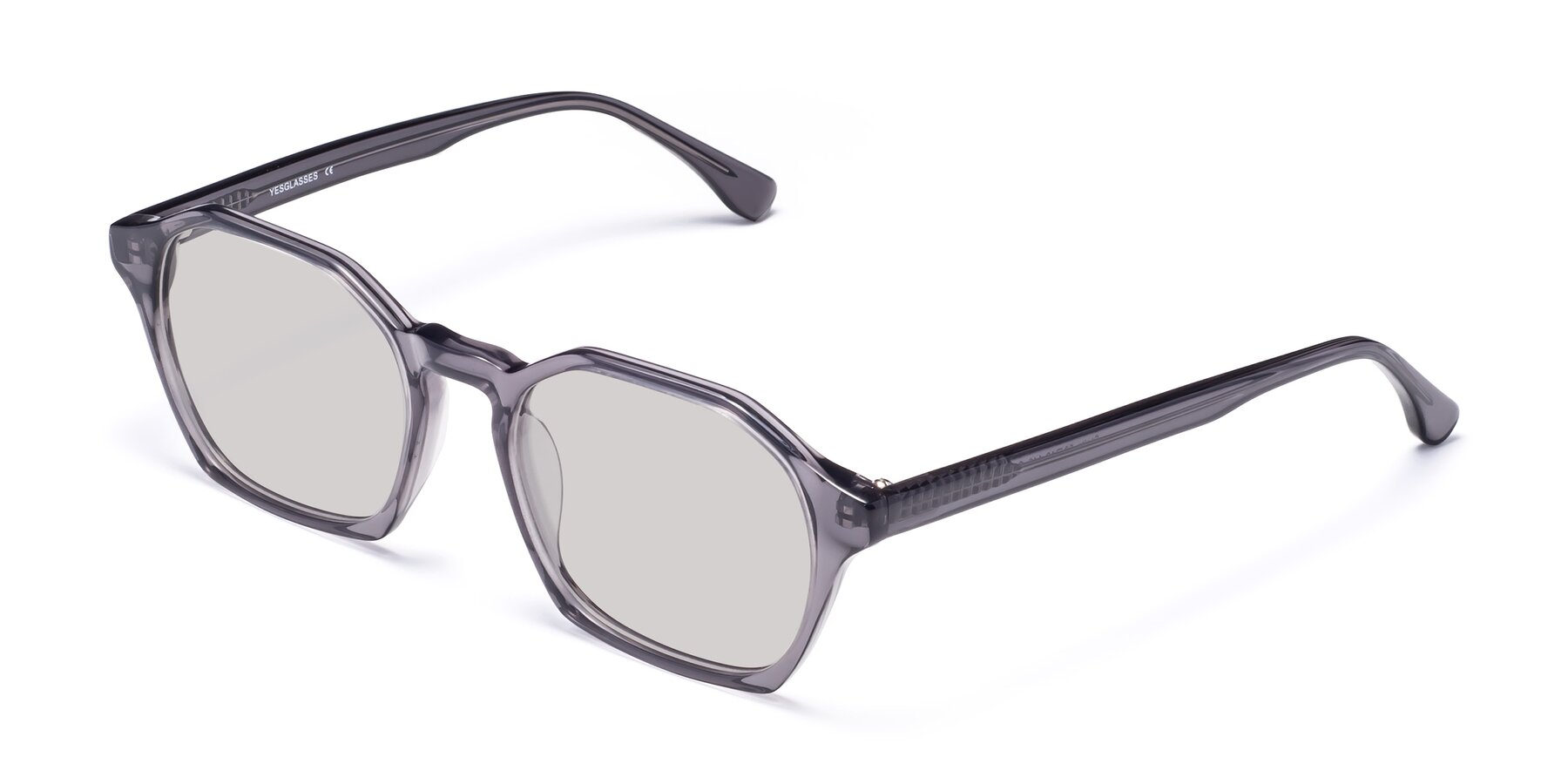 Angle of Stoltz in Translucent Gray with Light Gray Tinted Lenses