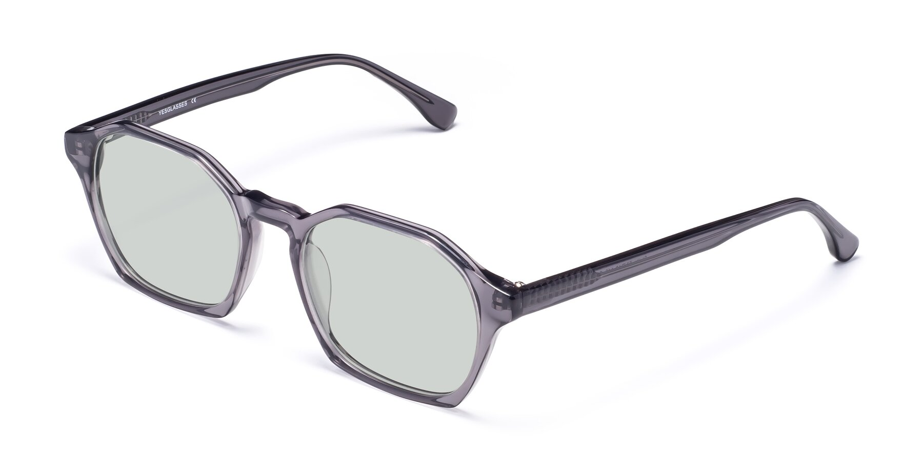 Angle of Stoltz in Translucent Gray with Light Green Tinted Lenses