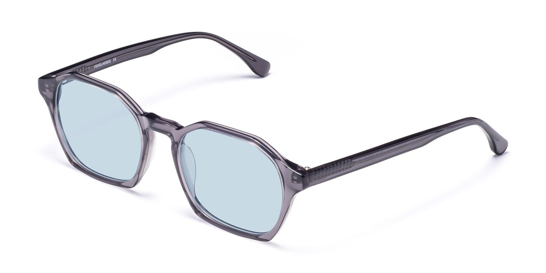 Angle of Stoltz in Translucent Gray with Light Blue Tinted Lenses
