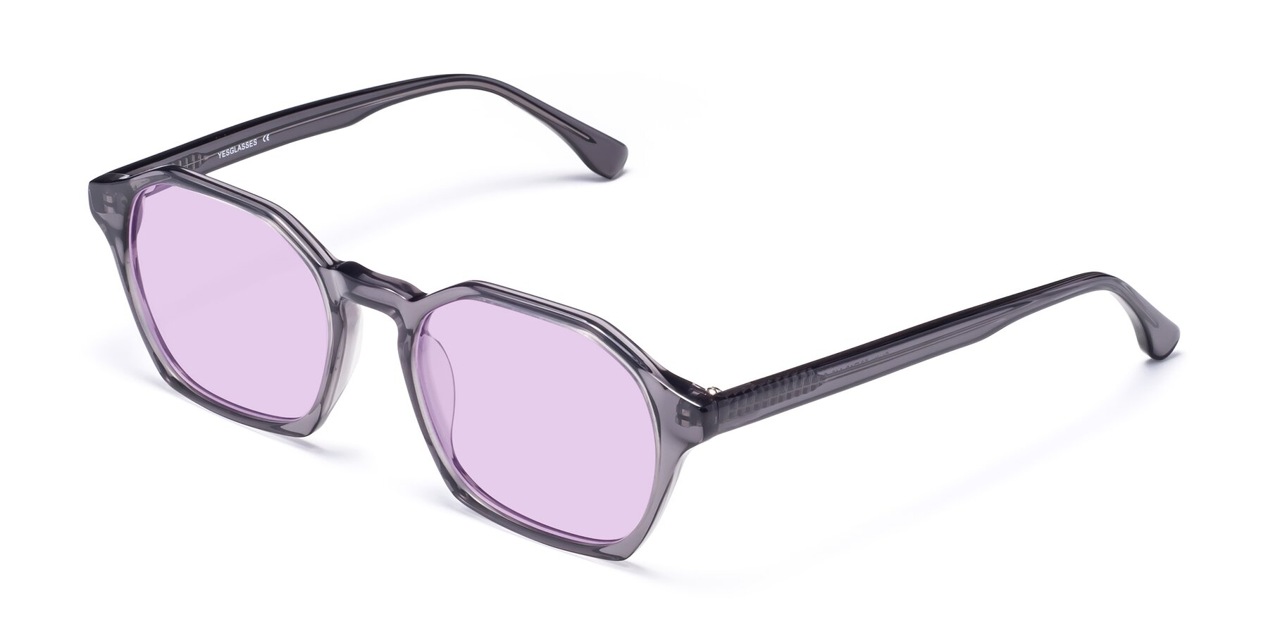 Angle of Stoltz in Translucent Gray with Light Purple Tinted Lenses