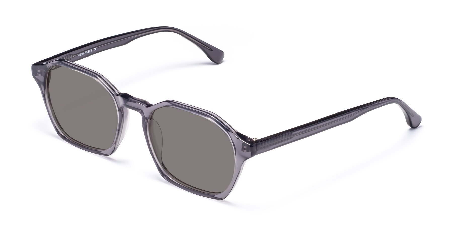 Angle of Stoltz in Translucent Gray with Medium Gray Tinted Lenses