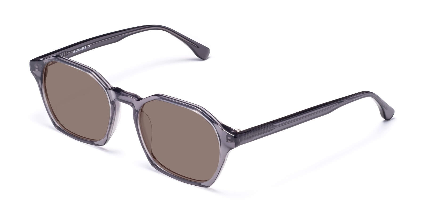 Angle of Stoltz in Translucent Gray with Medium Brown Tinted Lenses