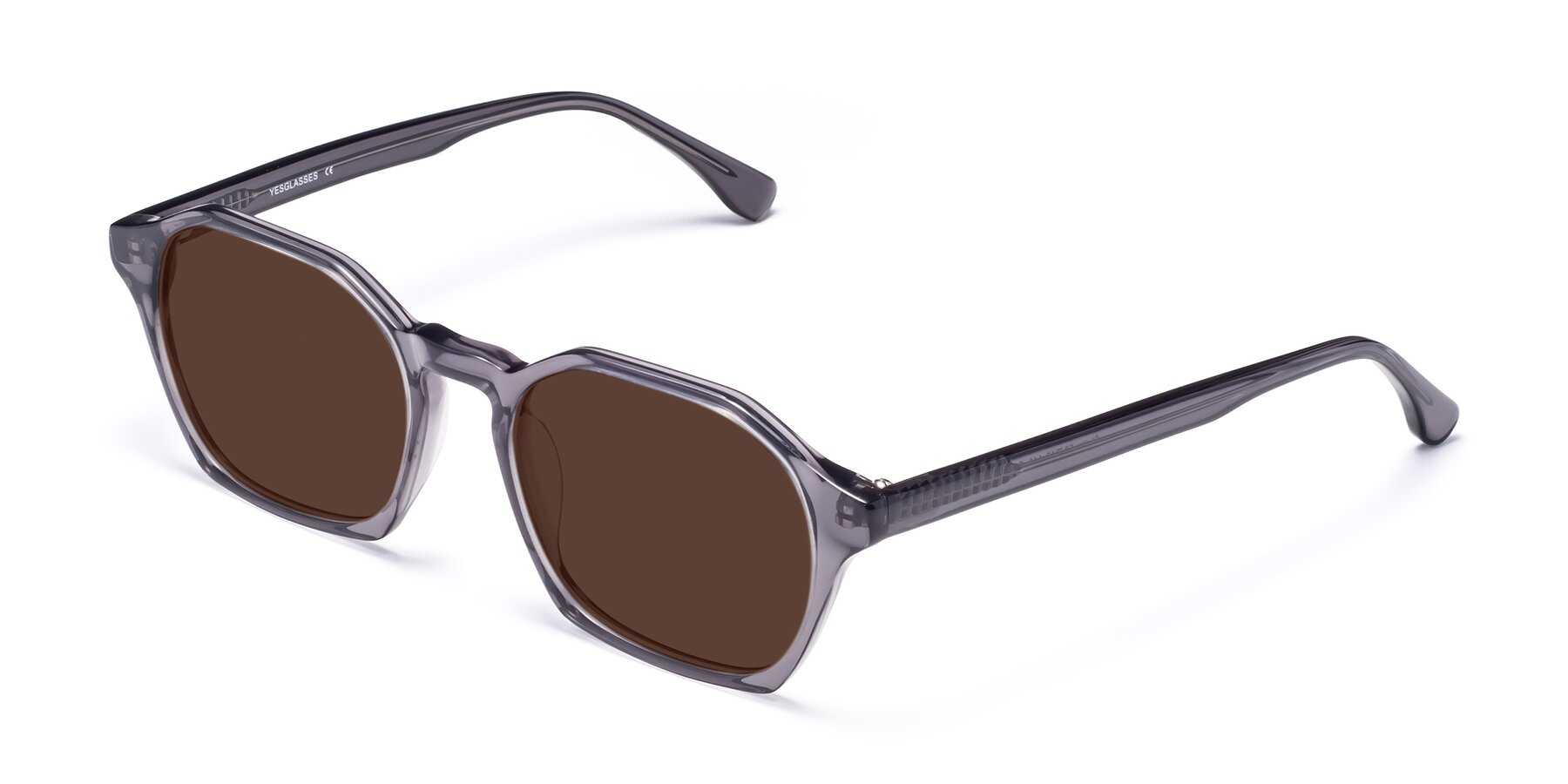 Angle of Stoltz in Translucent Gray with Brown Tinted Lenses