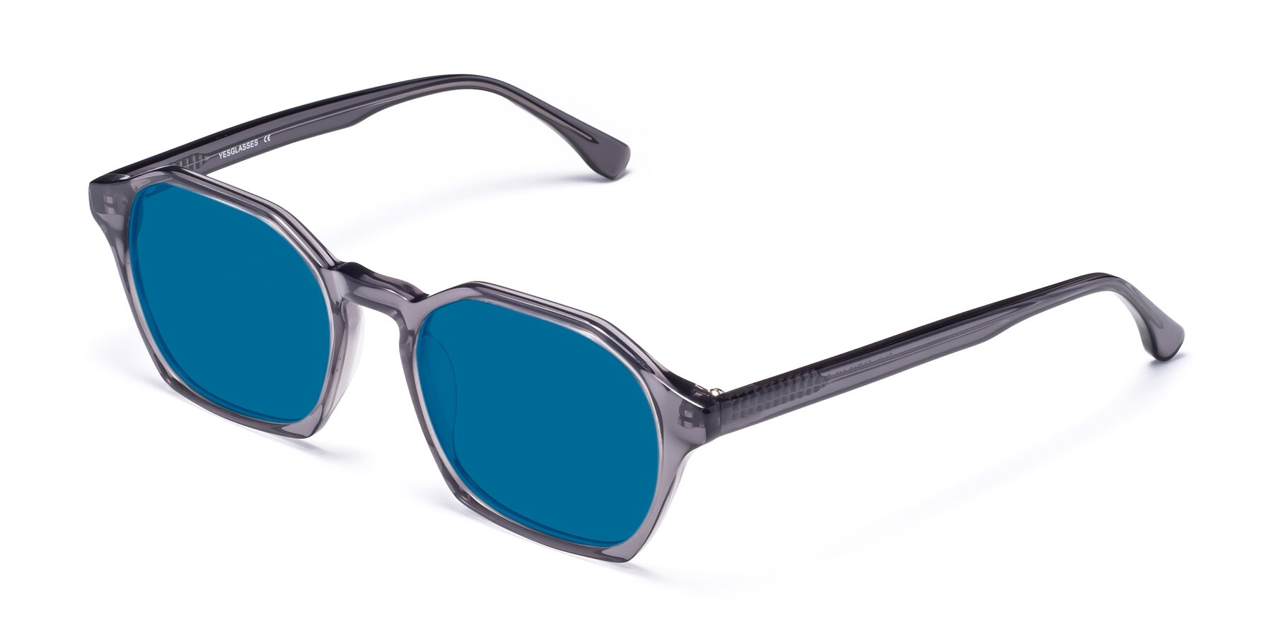 Angle of Stoltz in Translucent Gray with Blue Tinted Lenses