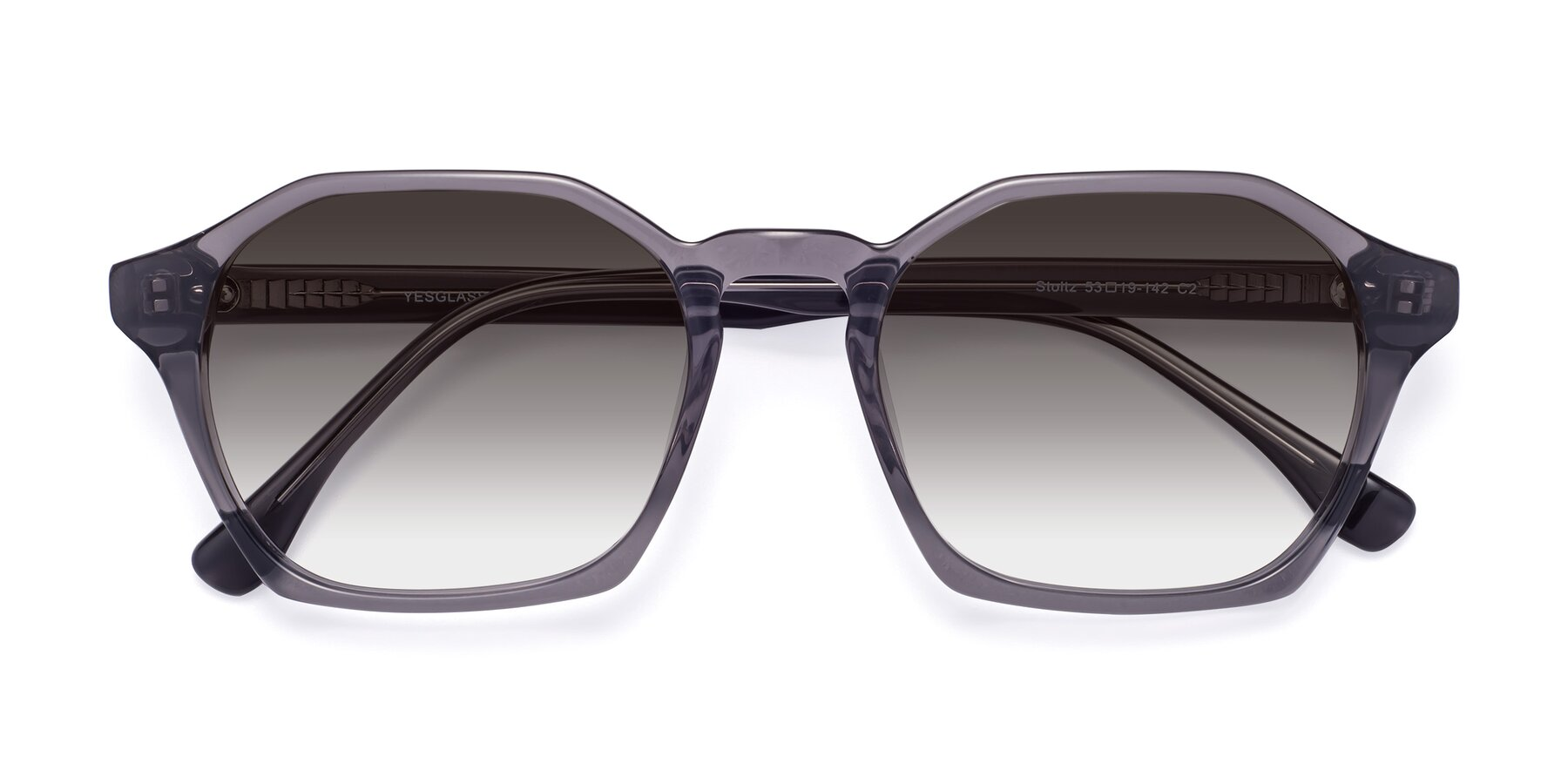 Folded Front of Stoltz in Translucent Gray with Gray Gradient Lenses