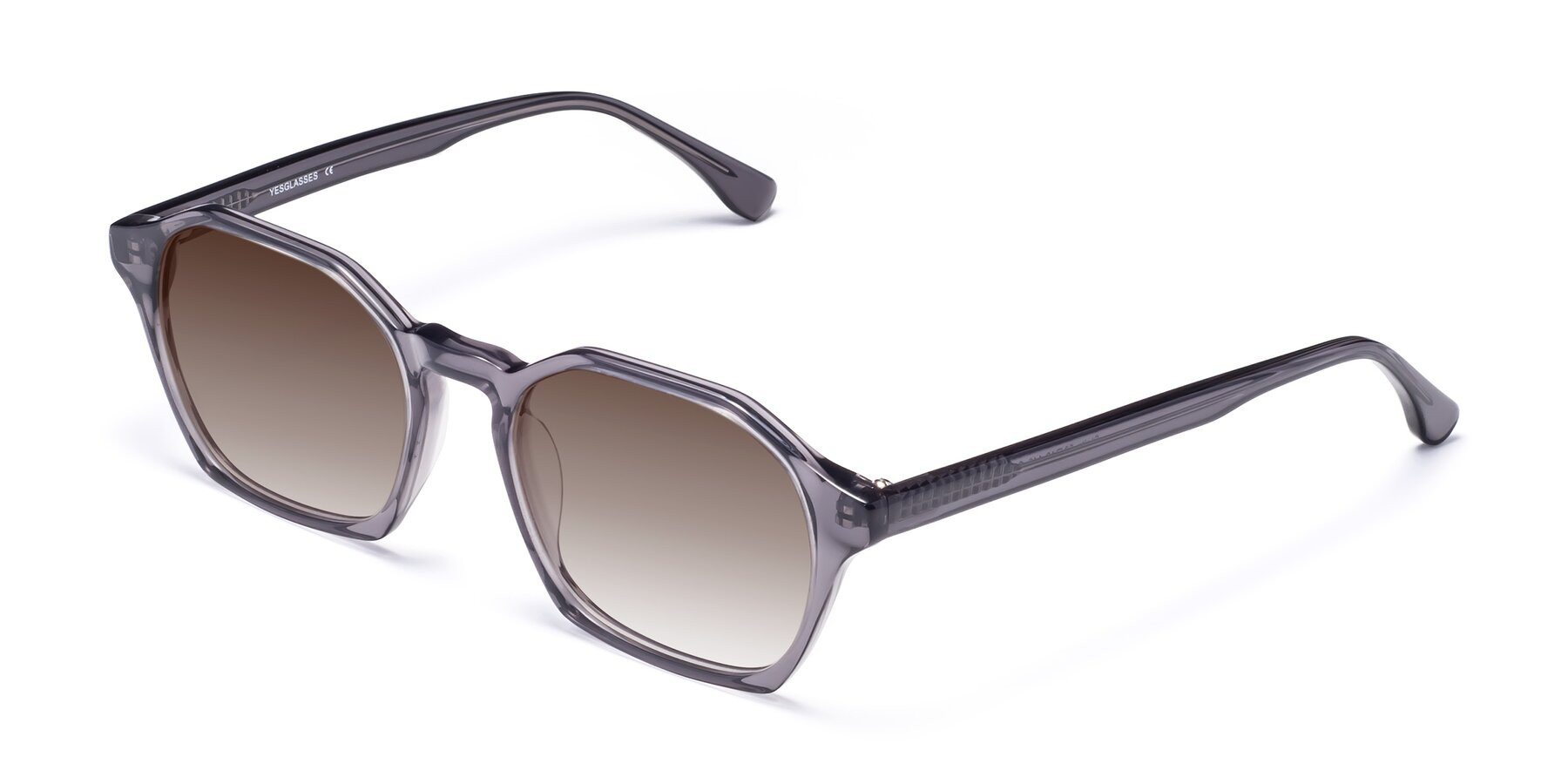 Angle of Stoltz in Translucent Gray with Brown Gradient Lenses
