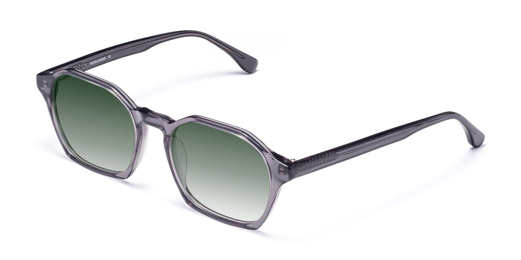 Angle of Stoltz in Translucent Gray with Green Gradient Lenses