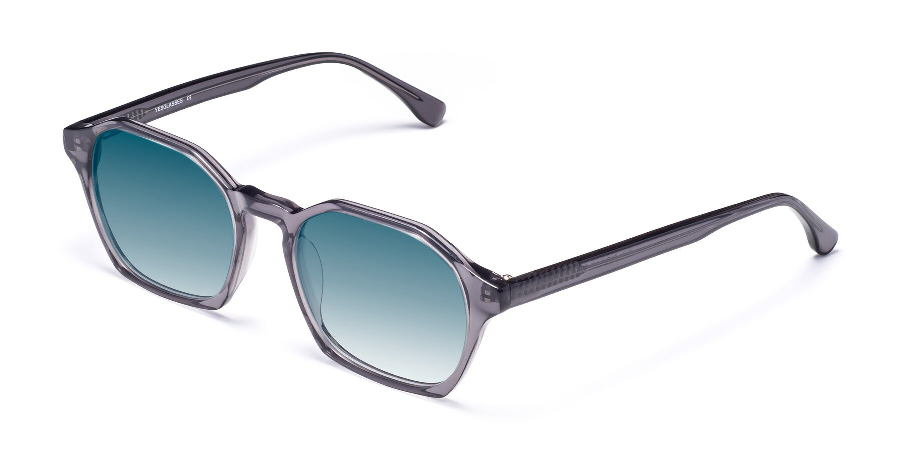 Angle of Stoltz in Translucent Gray with Blue Gradient Lenses