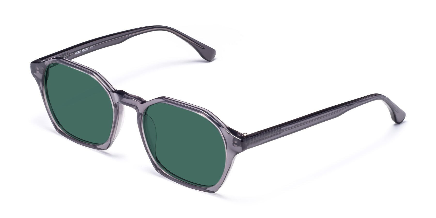 Angle of Stoltz in Translucent Gray with Green Polarized Lenses