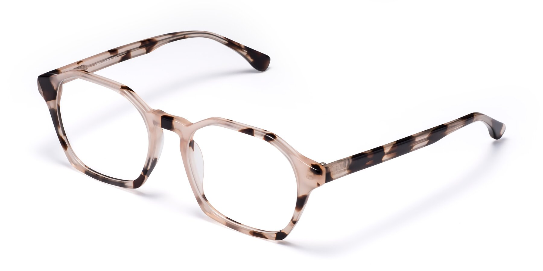 Angle of Stoltz in Leopard-Print with Clear Blue Light Blocking Lenses