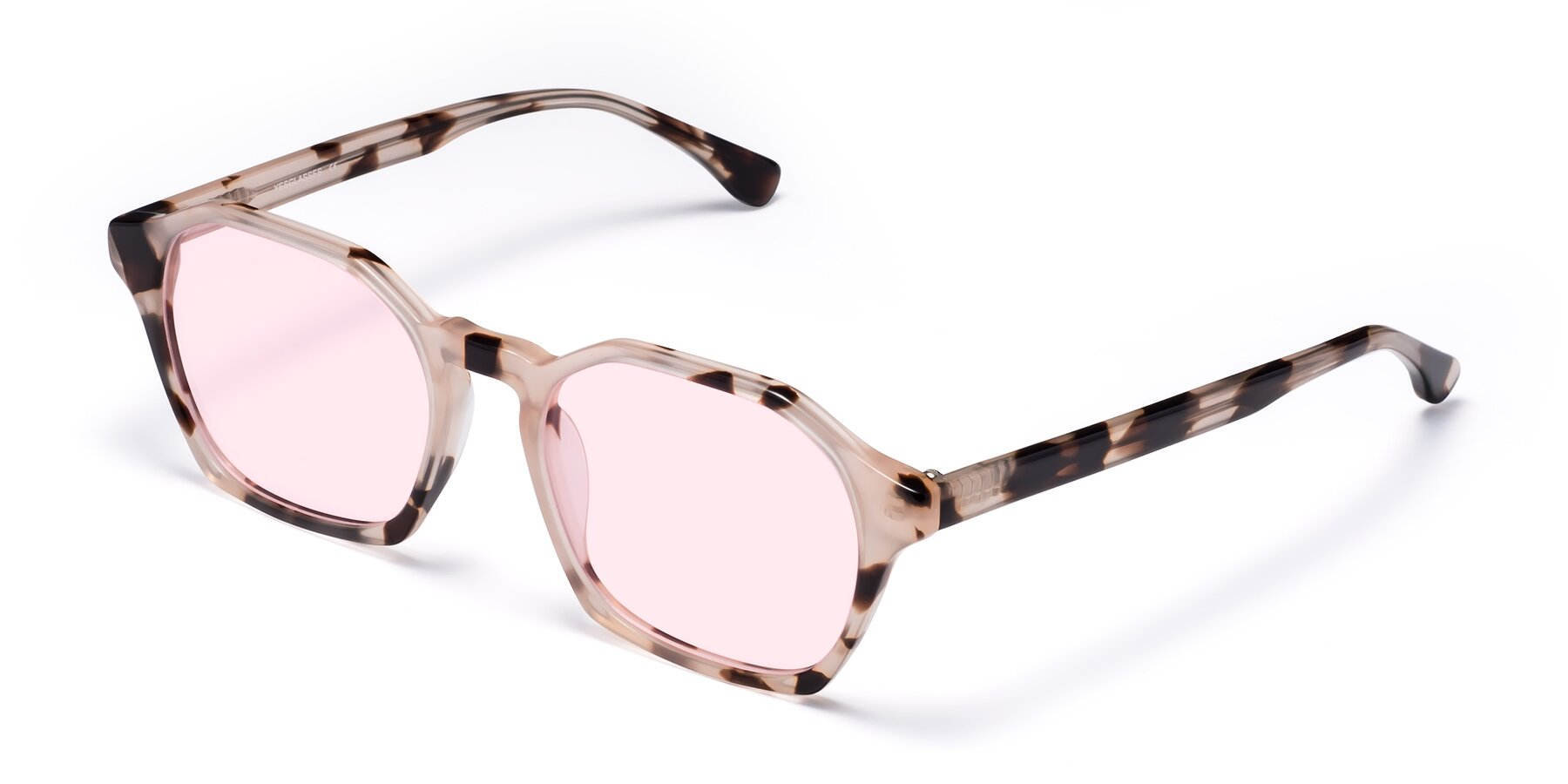 Angle of Stoltz in Leopard with Light Pink Tinted Lenses